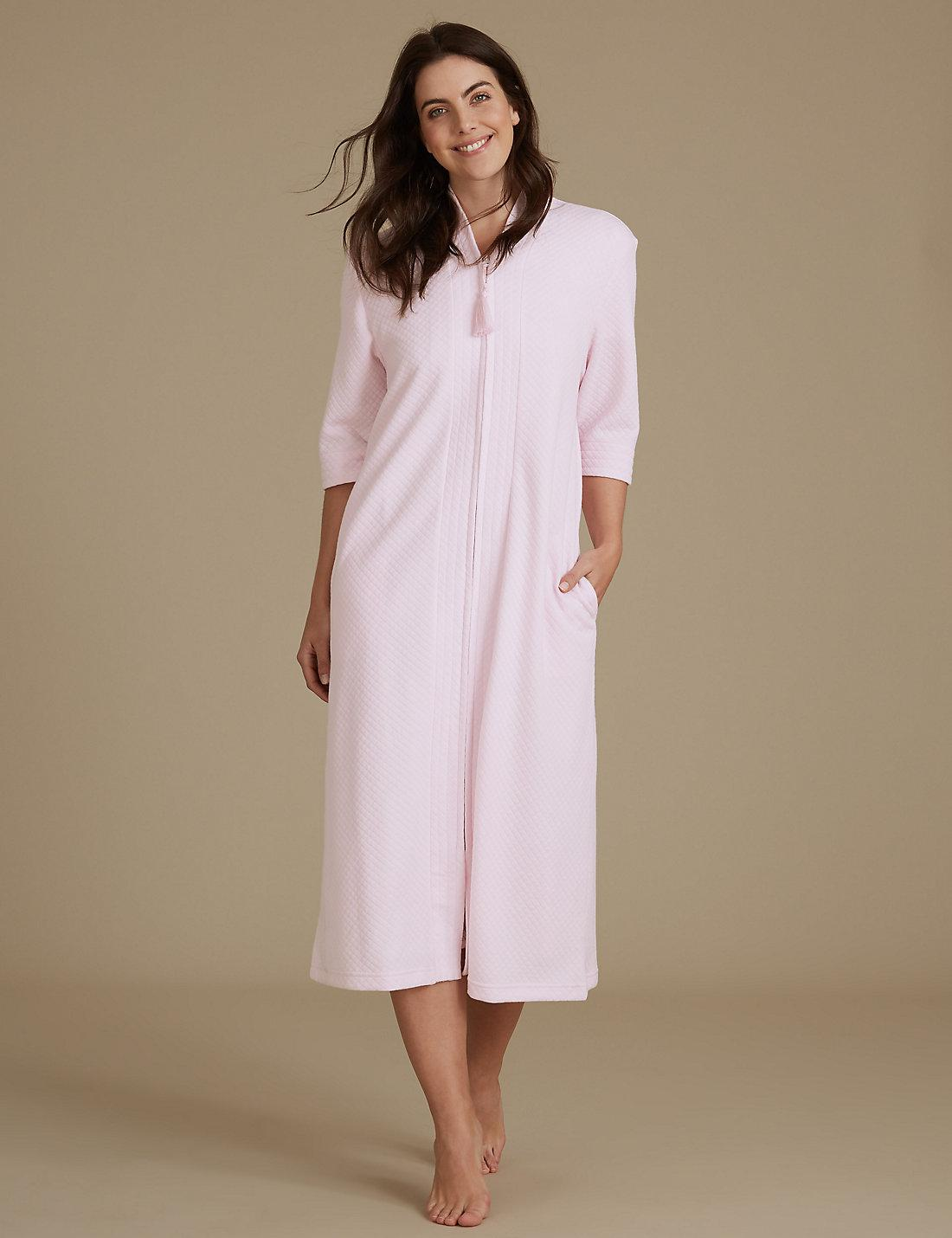 Lyst - Marks & Spencer Quilted Zip Through Dressing Gown in Pink