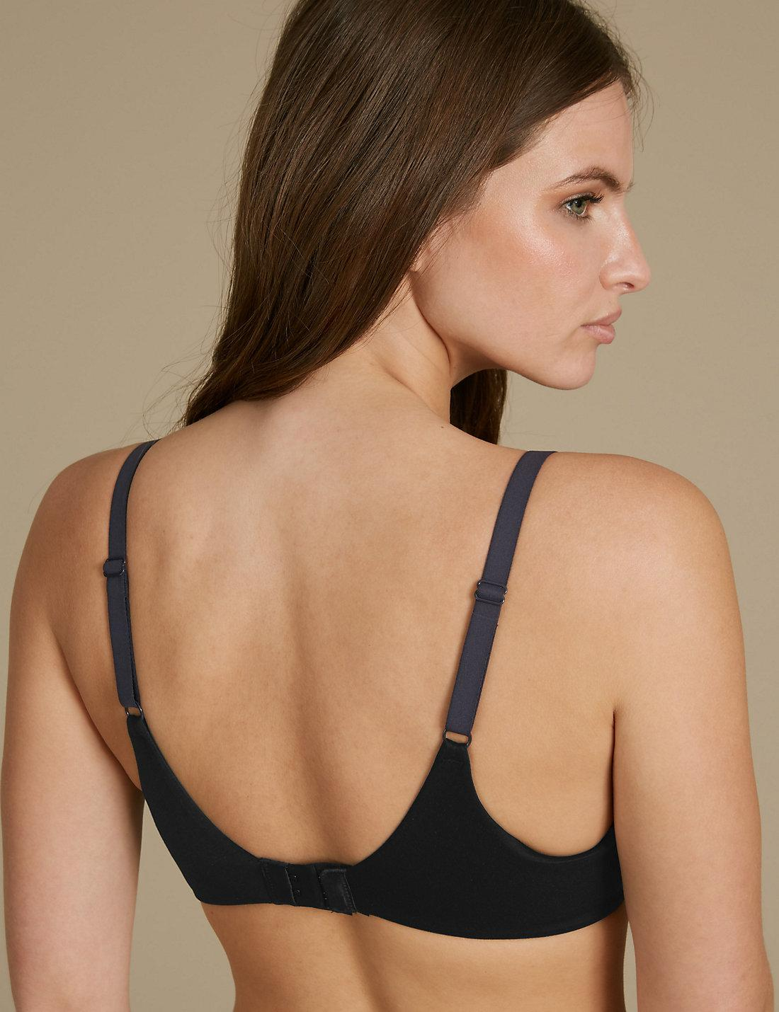 40f119e325 Lyst - Marks   Spencer Sumptuously Soft Padded Full Cup T-shirt Bra A-dd in  Black