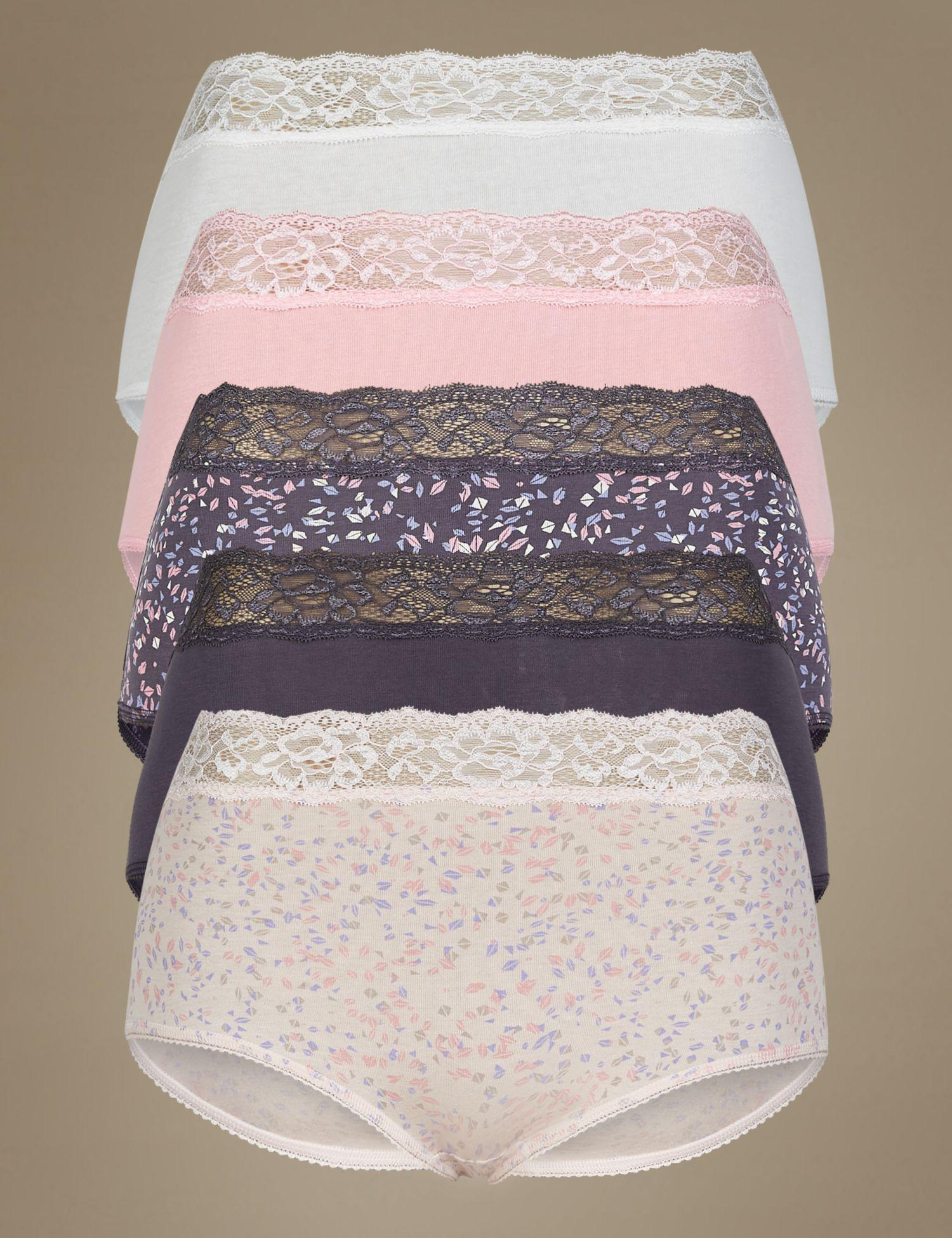 aad3fe9ee3 Marks   Spencer. Women s 5 Pack Cotton Rich Full Brief Knickers