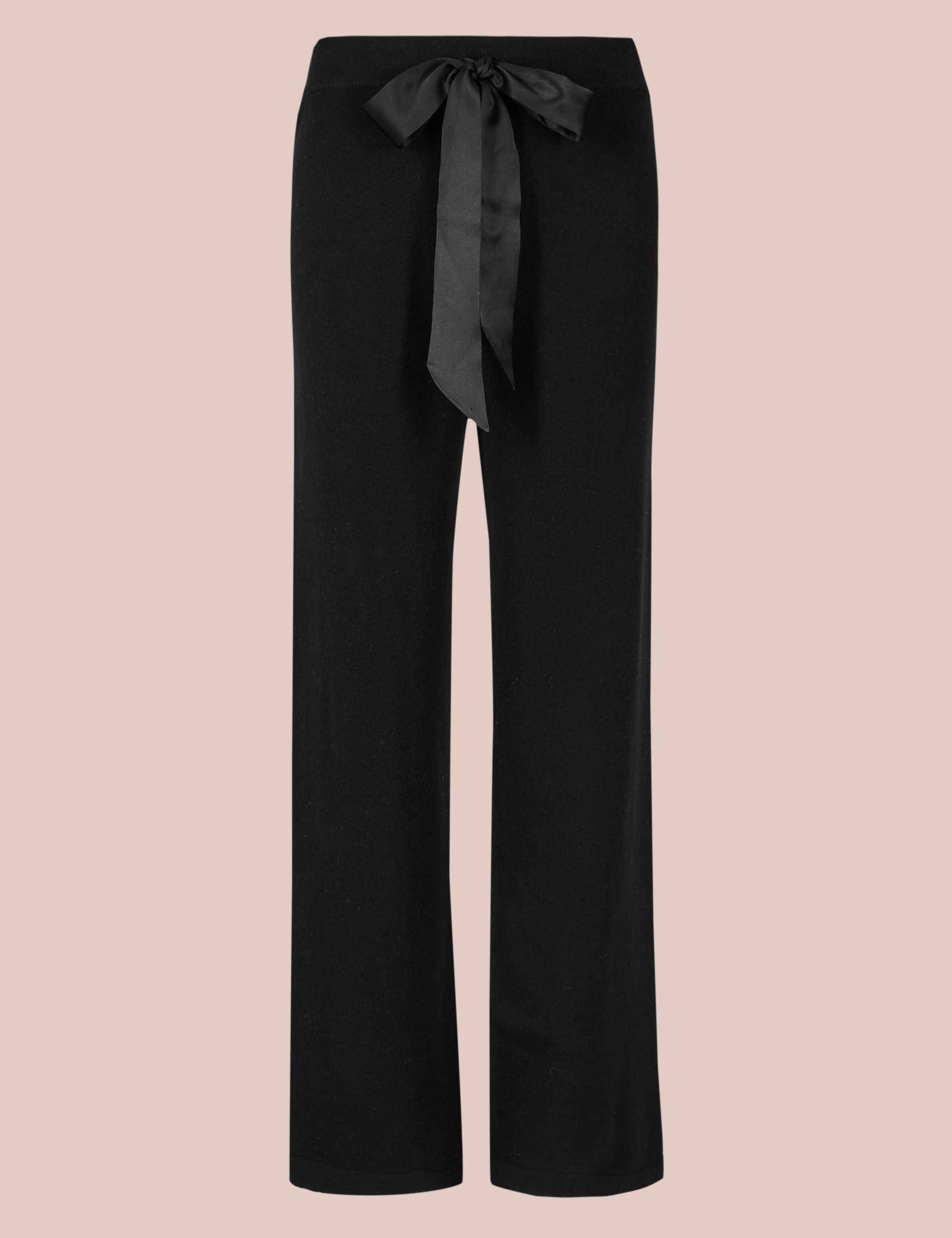 b1e3c89beb6c Marks   Spencer Pure Cashmere Pyjama Bottoms in Black - Lyst