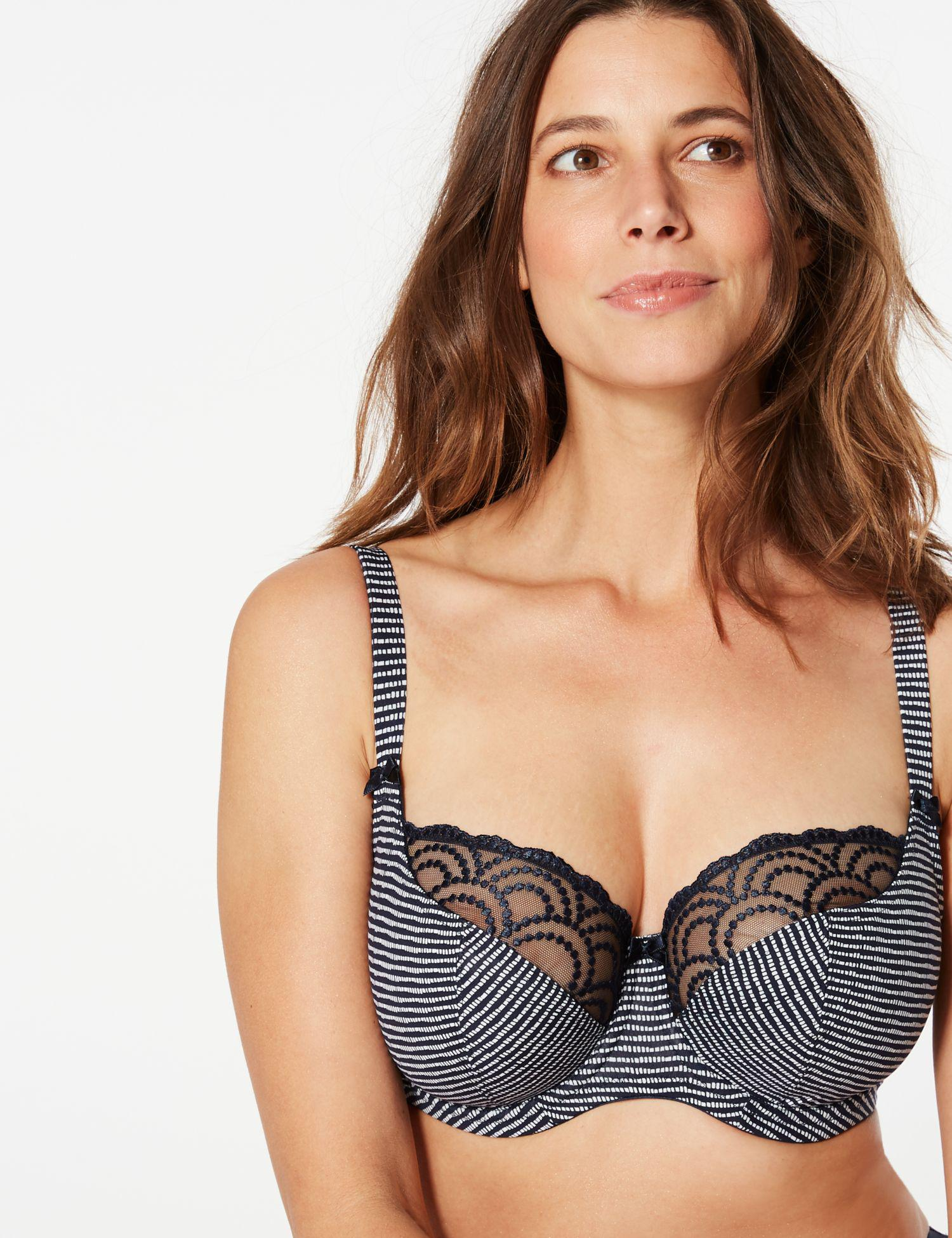 534cd34a1 Marks   Spencer Underwired Balcony Bra DD-GG in Blue - Lyst