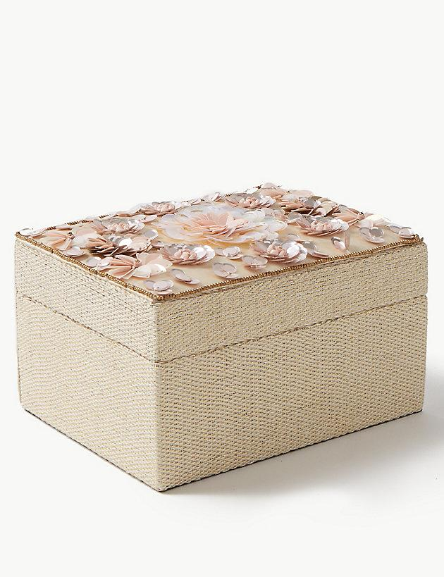 Lyst Marks Spencer Medium Sequin Flower Jewellery Box
