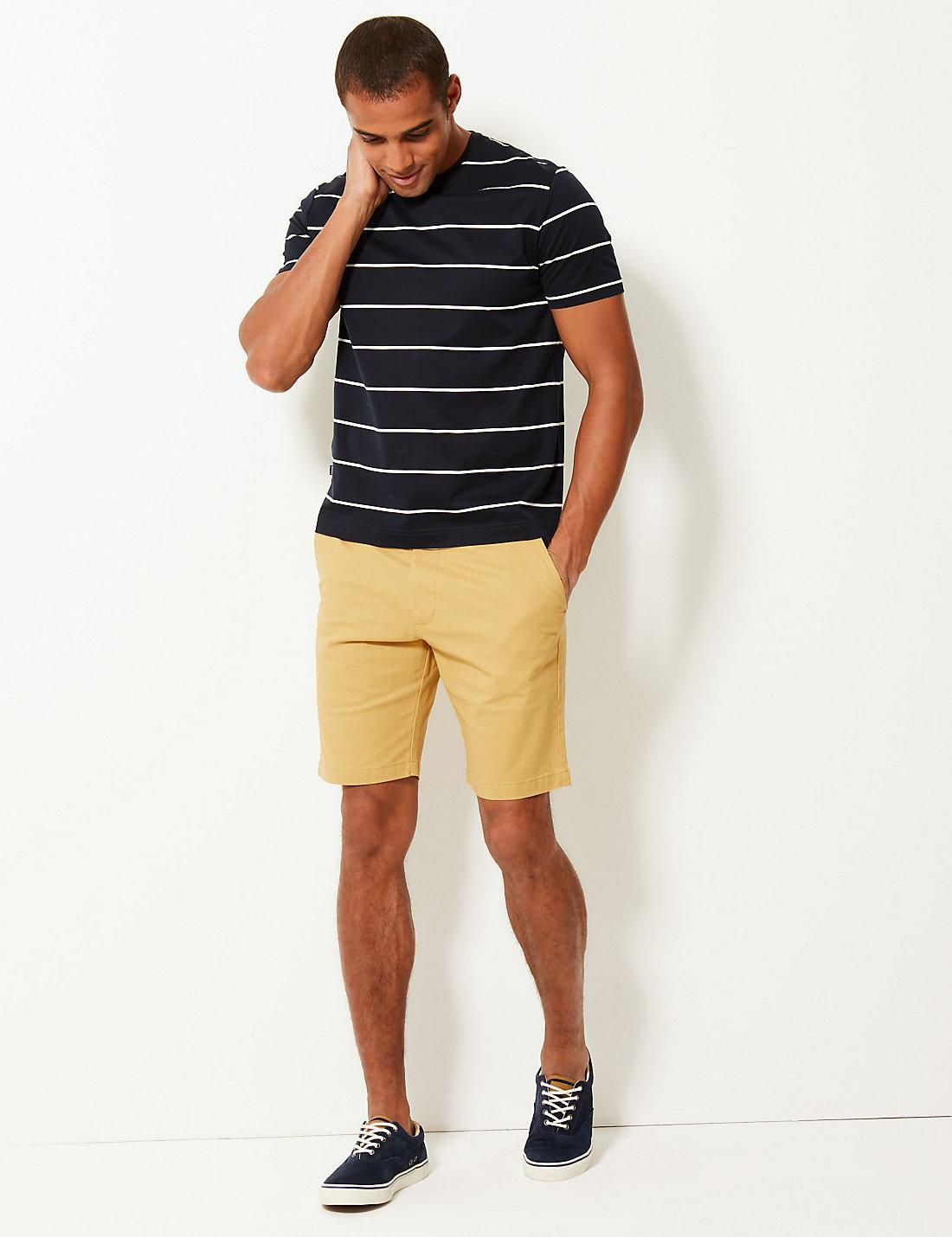 8d7c936cd03 Marks   Spencer. Men s Natural Cotton Rich Chino Shorts With Stretch