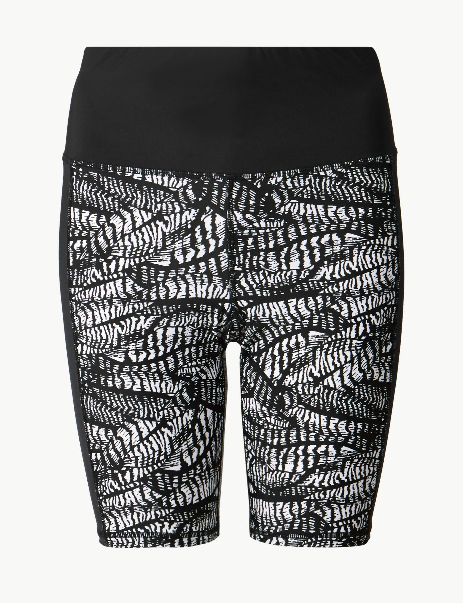 bf7ab0f078 Marks & Spencer Monochrome Print Cropped Swim Shorts in Black - Lyst