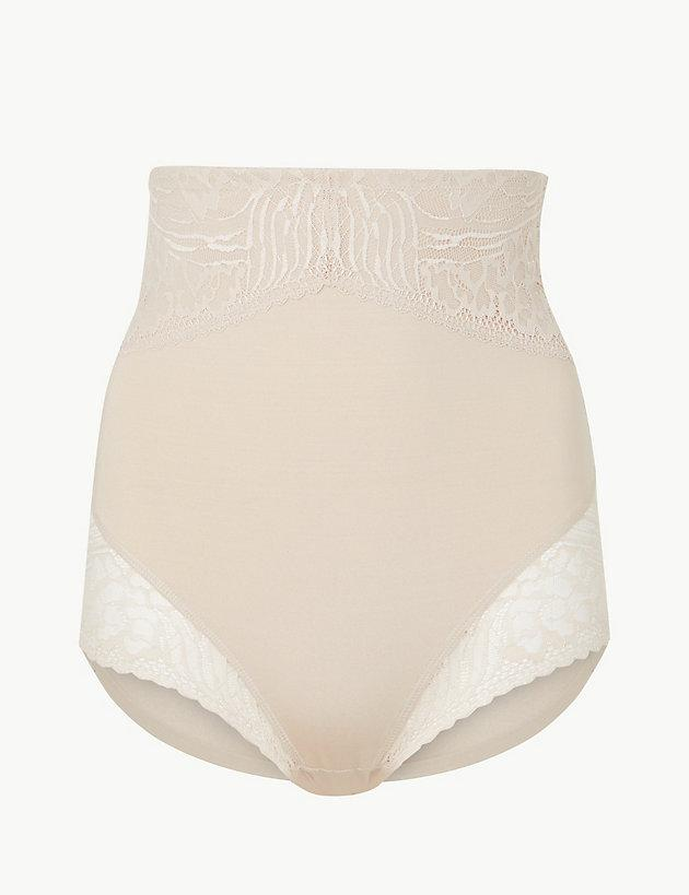 d45836a2ec Lyst - Marks   Spencer Smoothlinestm Body Shaping Waist Cincher in Natural
