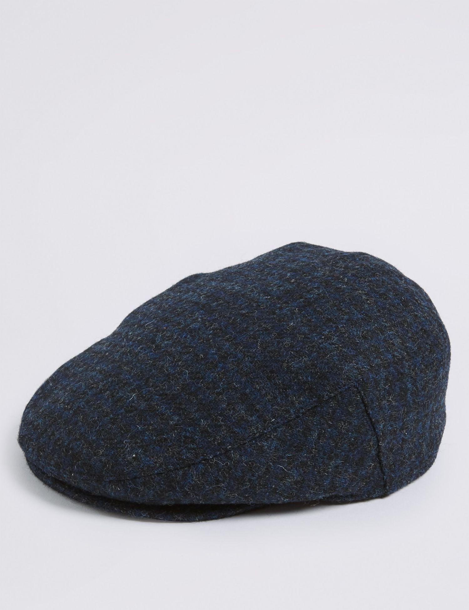 d23bfc281 Marks & Spencer Pure Wool Flat Cap With Stormweartm in Blue for Men ...