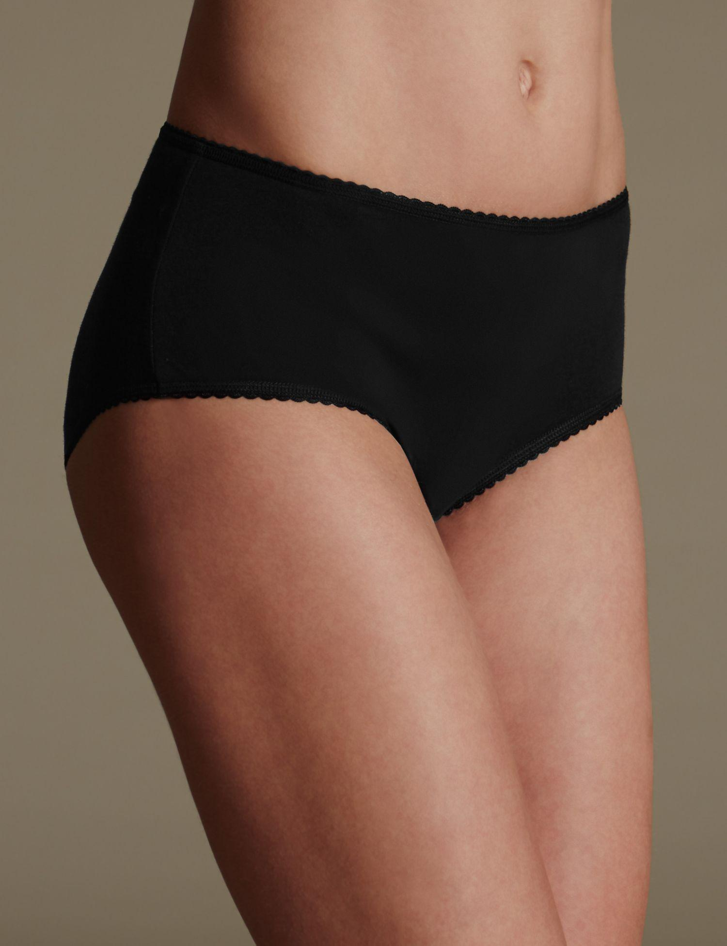 1bf2b9a84b7cb3 Marks & Spencer 5 Pack Cotton Rich Midi Knickers With New & Improved ...
