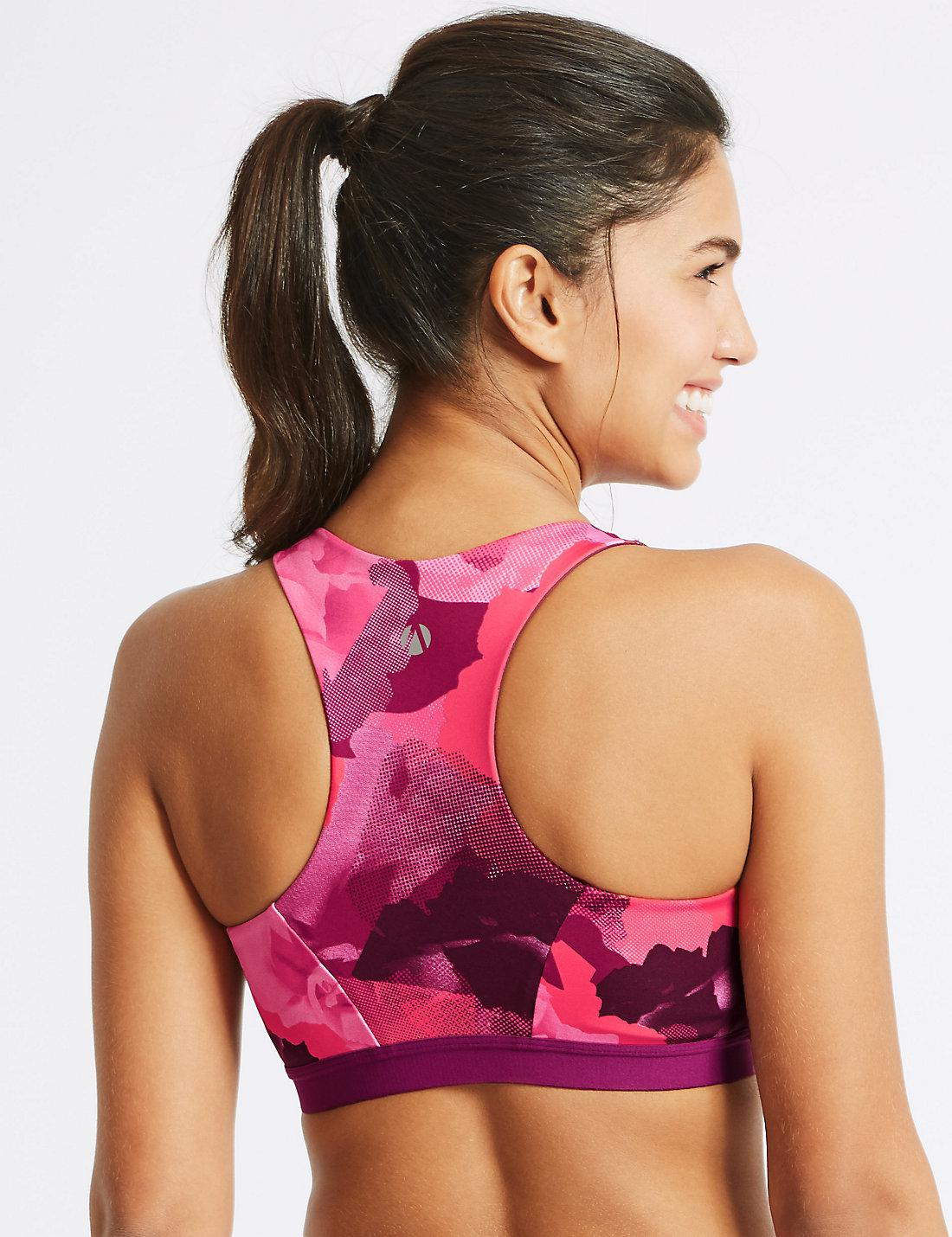 96451d433ed1a Lyst - Marks   Spencer Zipped Front Extra High Impact Sports Bra A-g ...
