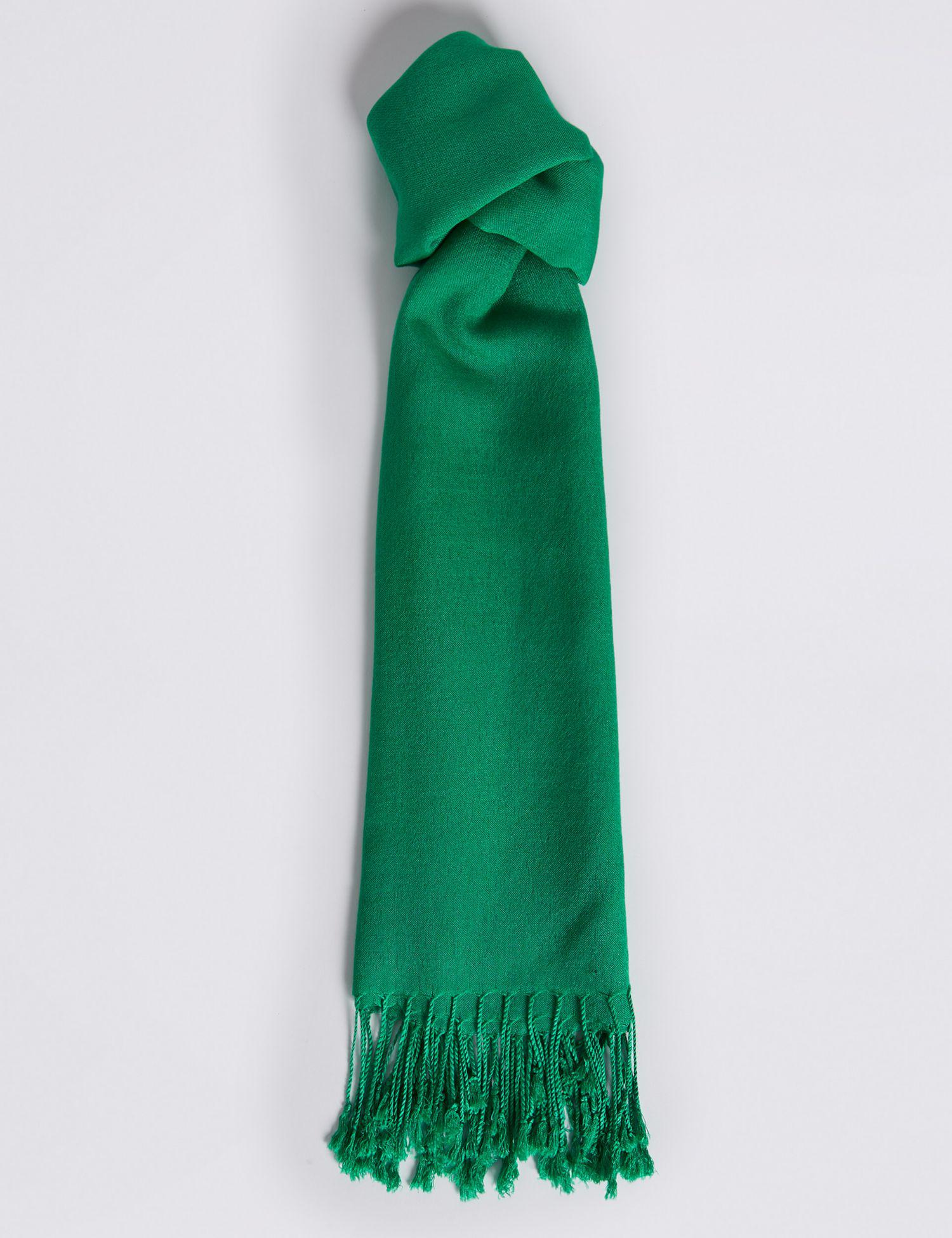 52070f4fe Marks & Spencer Modal Rich Pashminetta Scarf in Green - Lyst