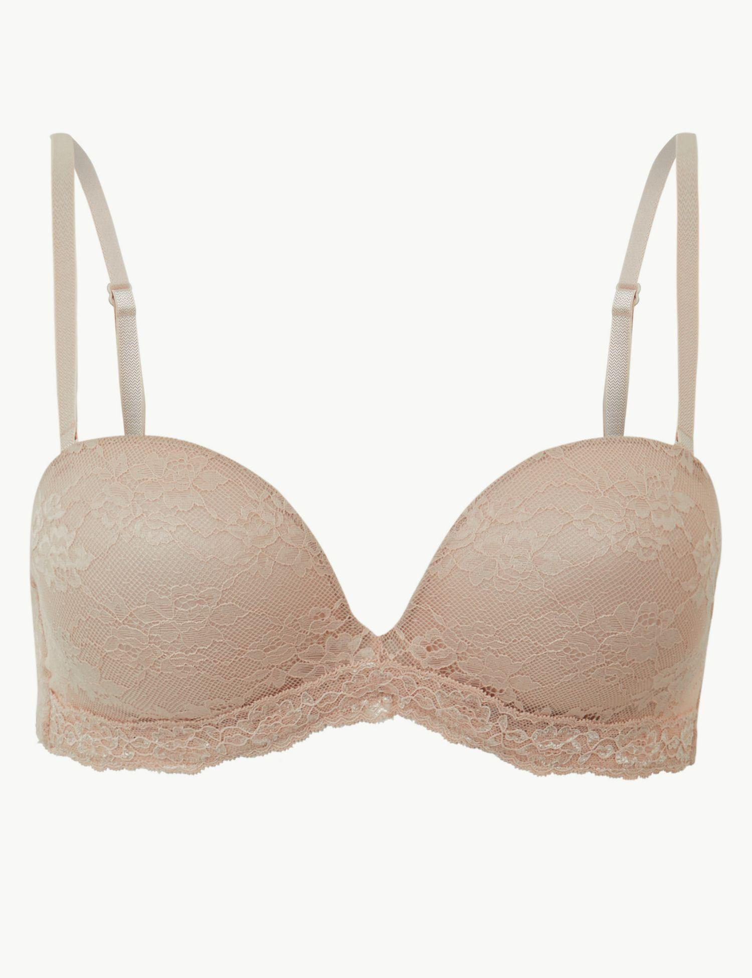 47b14b63dd Marks   Spencer Louisa Lace Plunge Strapless Bra A-e in Natural - Lyst