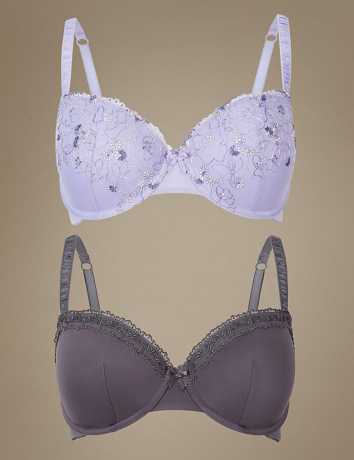 086a1caa2dbfd Marks   Spencer. Women s 2 Pack Padded Push-up Balcony Bras A-e