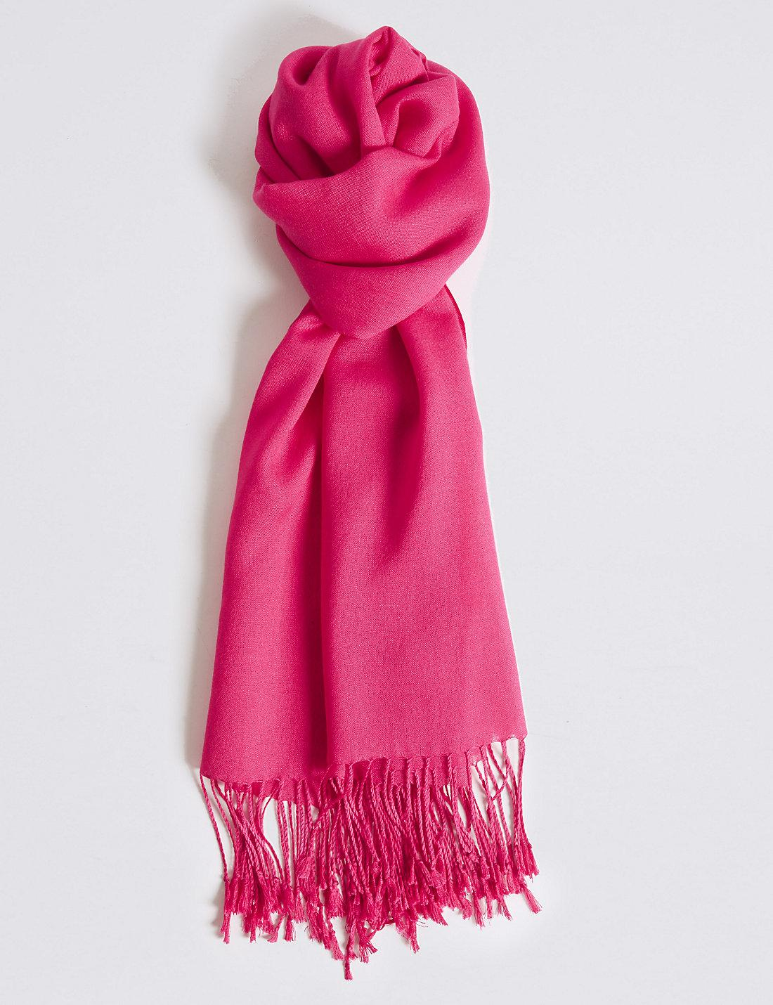 cc940c29d Marks & Spencer Modal Rich Pashminetta Scarf in Pink - Lyst