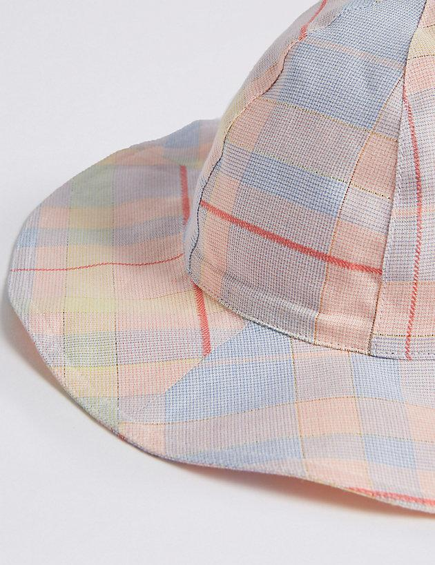 2b541cb0 ... Kids' Checked Floppy Hat With Sun Smart Upf50+ - Lyst. View fullscreen