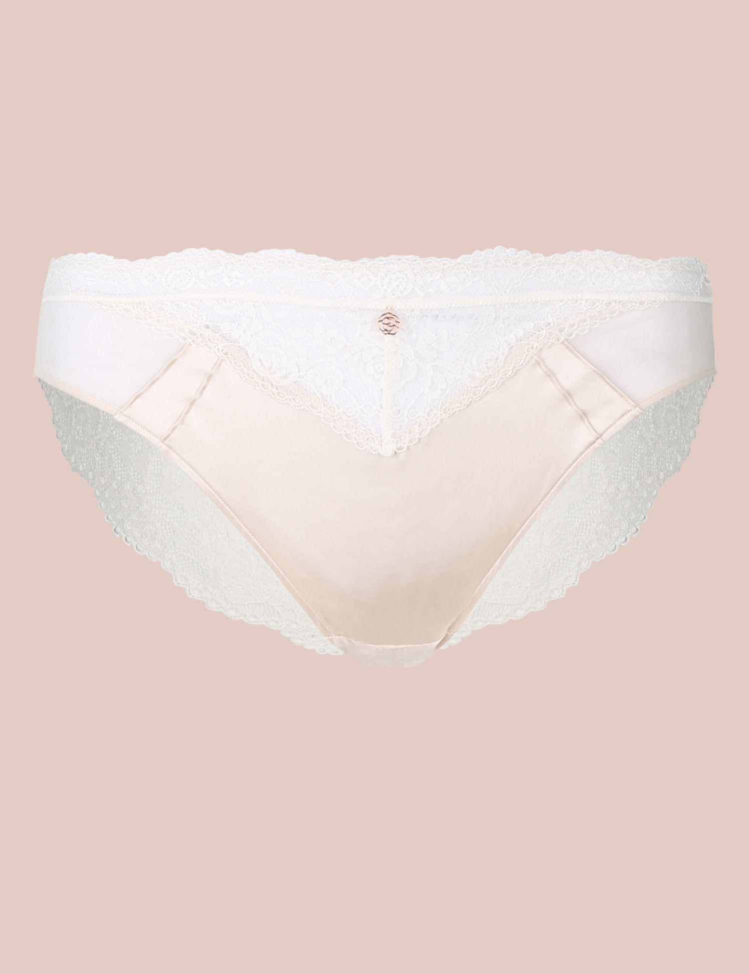 5ecc04f23338 Marks & Spencer. Women's Silk & Lace High Leg Knickers