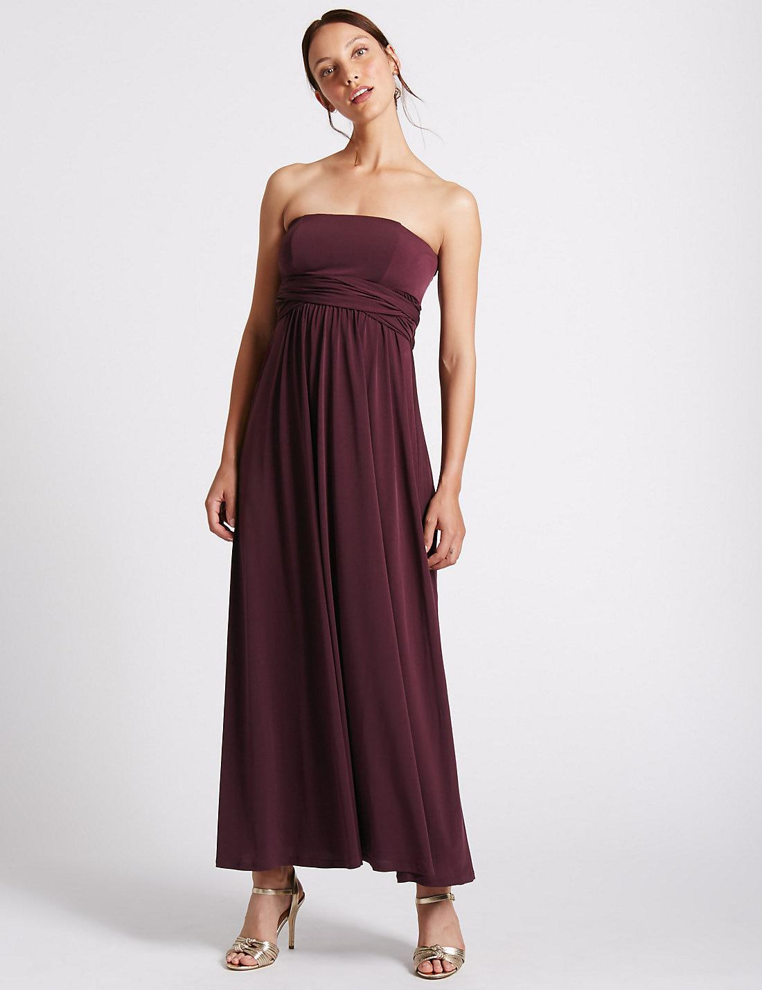 Lyst - Marks & spencer Multiway Maxi Dress in Purple