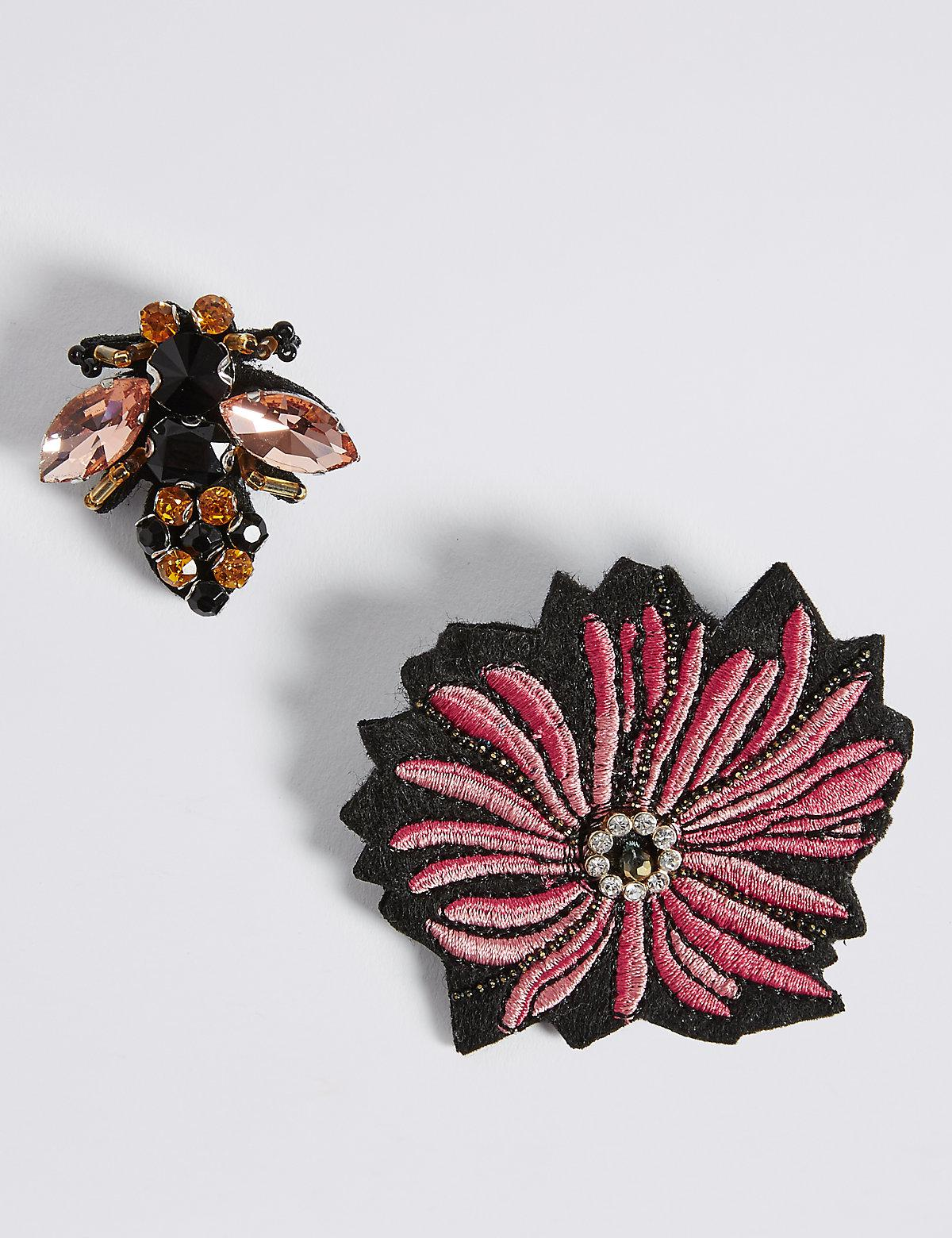 970d5445898 Marks   Spencer 2 Pack Jewelled Bee Brooches - Lyst
