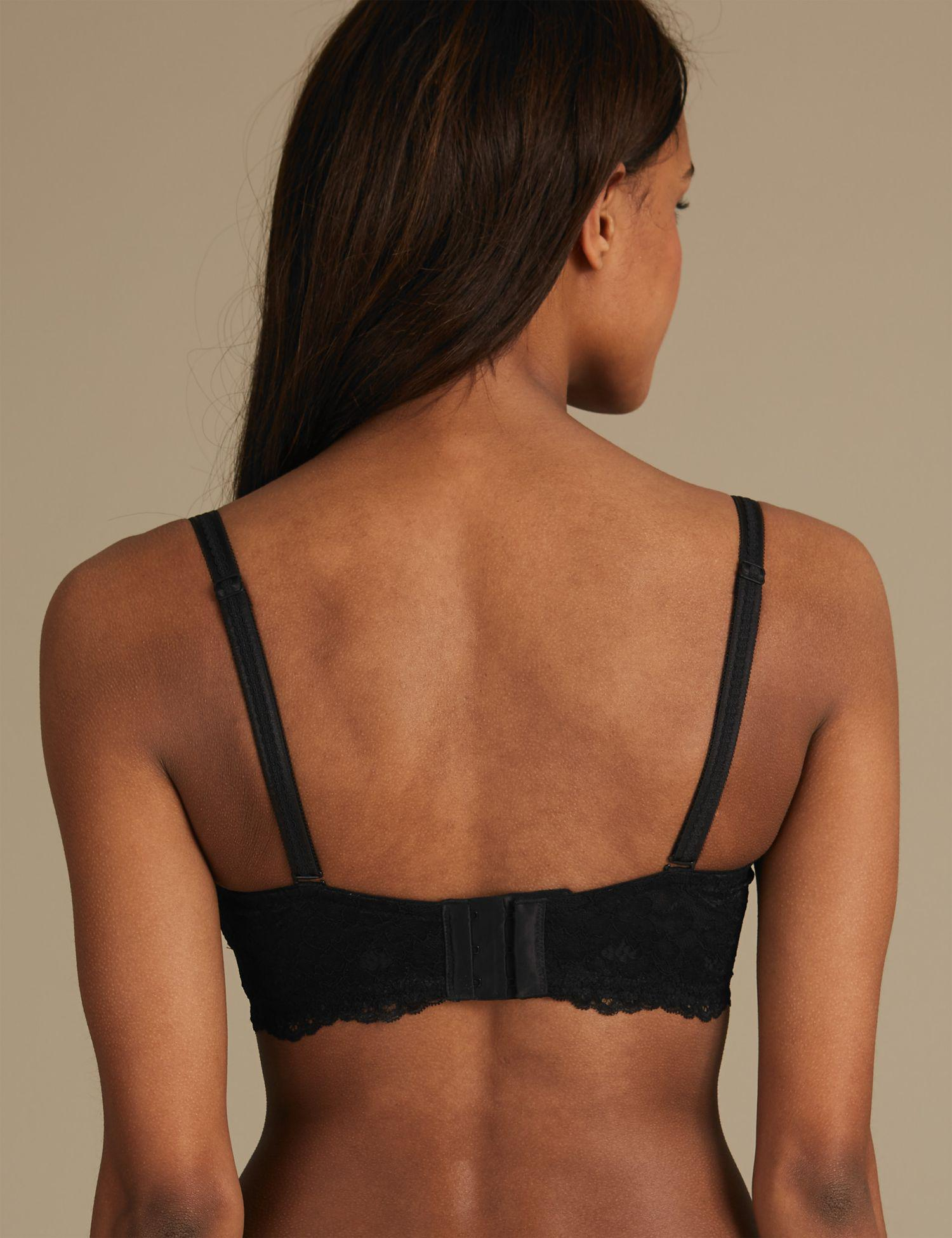 6dd34527eb Marks   Spencer - Black Louisa Lace Padded Strapless Bra A-e - Lyst. View  fullscreen