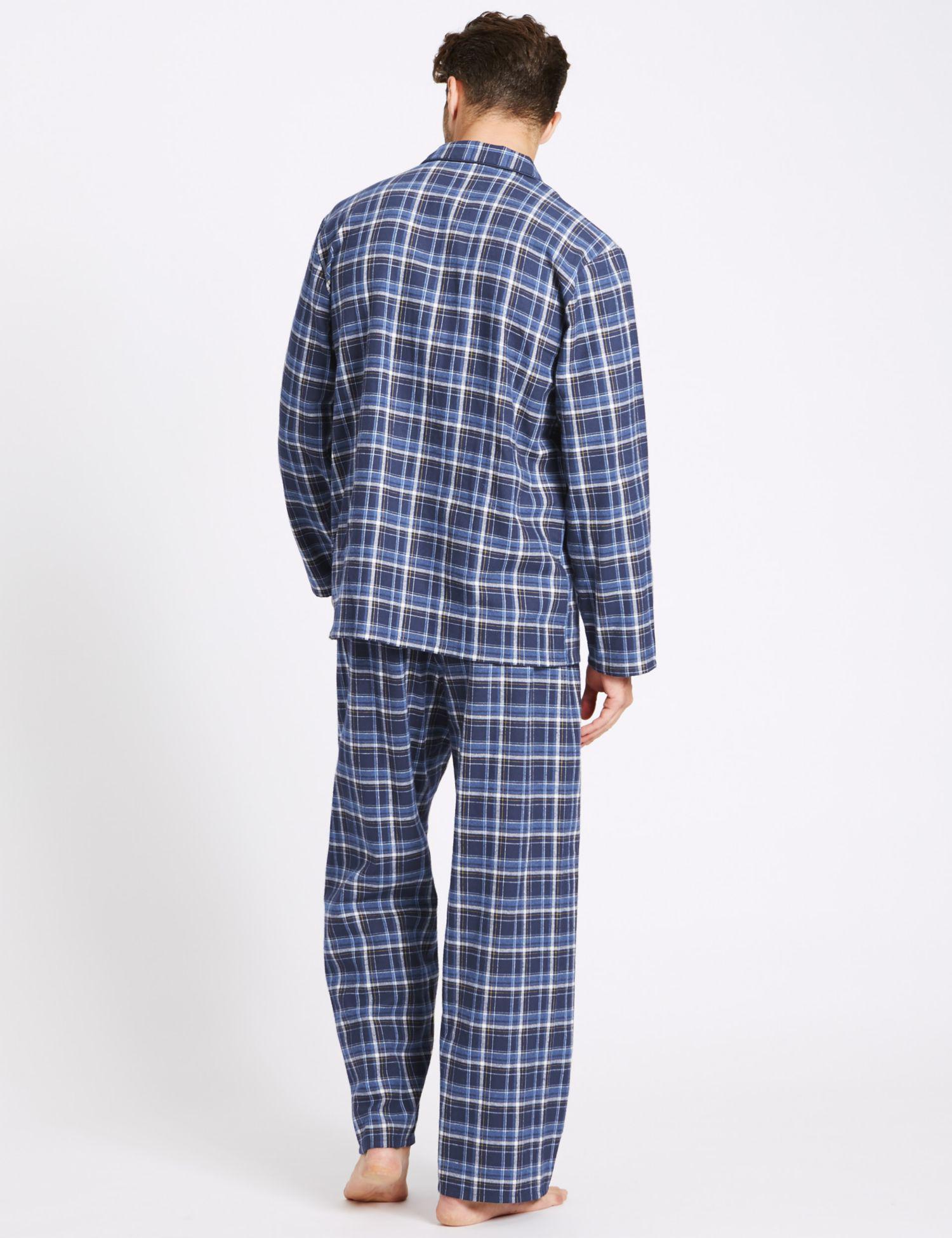 7ca7b126de Marks   Spencer - Blue Big   Ta Pure Bruhed Cotton Pyjaa Et for Men -. View  fullscreen
