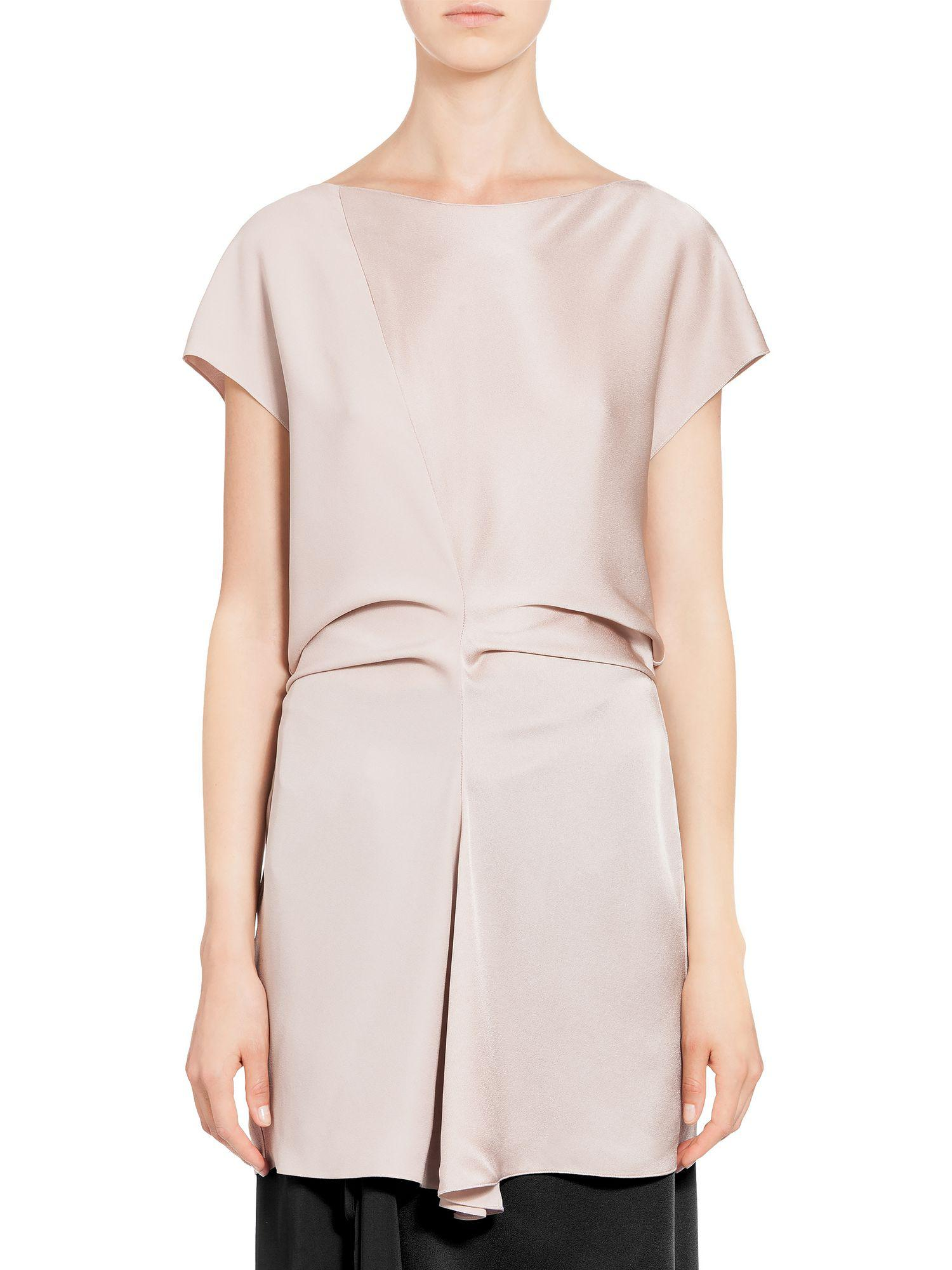 Outlet Locations Discount Aaa Boat-neck satin-back crepe blouse Marni Purchase Cheap Price Clearance Order Original Cheap Online oAIFD