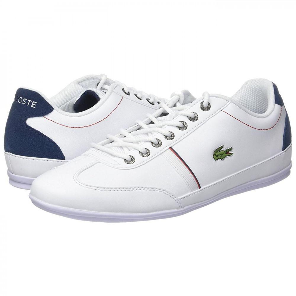 8edcf9637f186c Lacoste Misano Sport 118 1 Leather Trainers Shoes in Blue for Men - Lyst