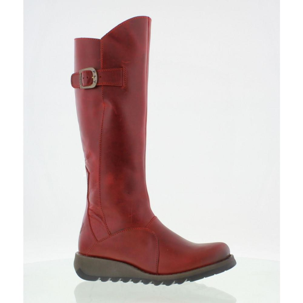0a32e29563d Fly London Mol 2 Knee High Wedge Boots in Red - Lyst