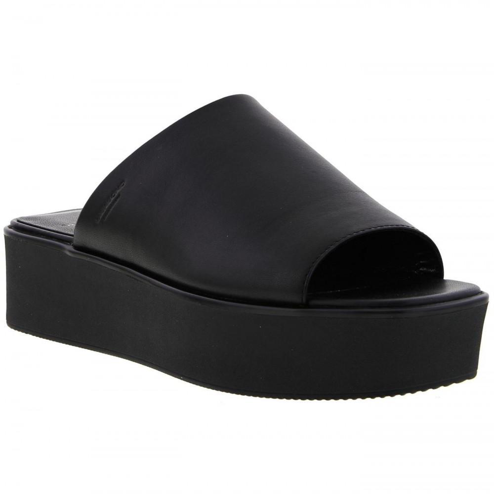 ca2d81a2c5c6 Vagabond - Black Bonnie Platform Chunky Slide Leather Sandal - Lyst. View  fullscreen