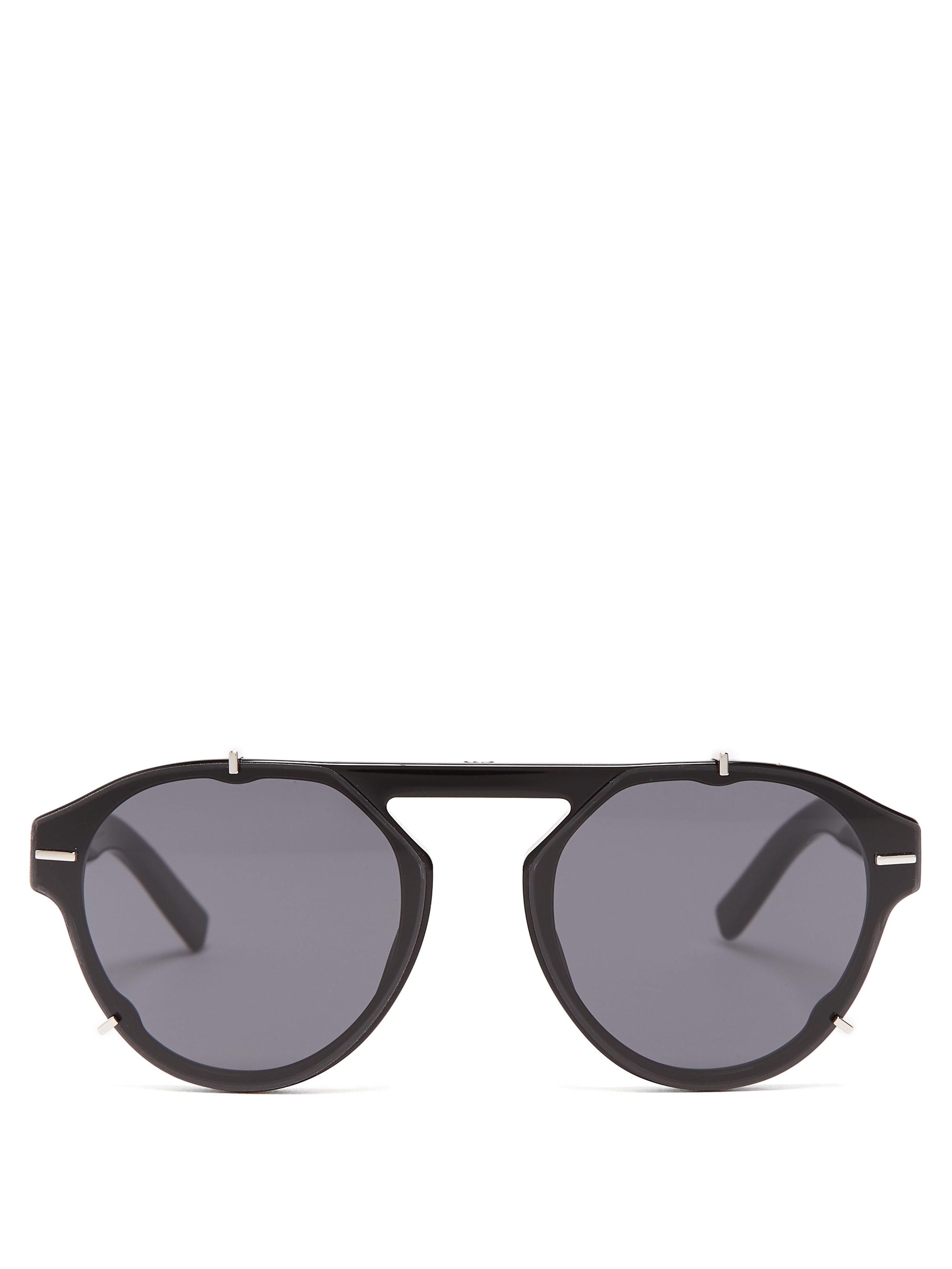 325ce91b19f8d2 Lyst - Lunettes de soleil rondes en acétate BlackTie Dior Homme pour ...