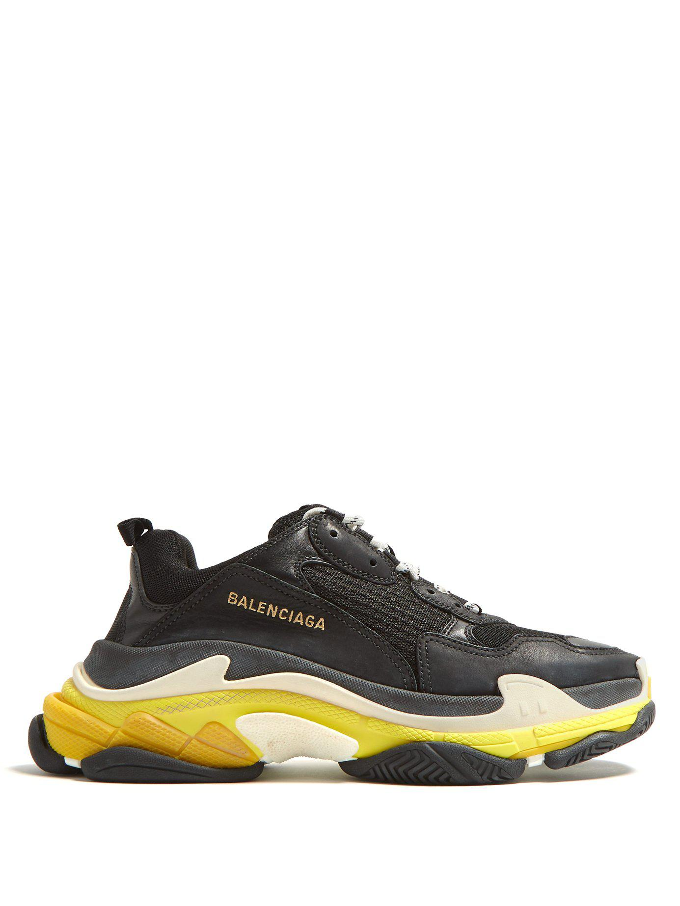 5999947bbbc0 Balenciaga - Black Triple S Sneakers for Men - Lyst. View fullscreen