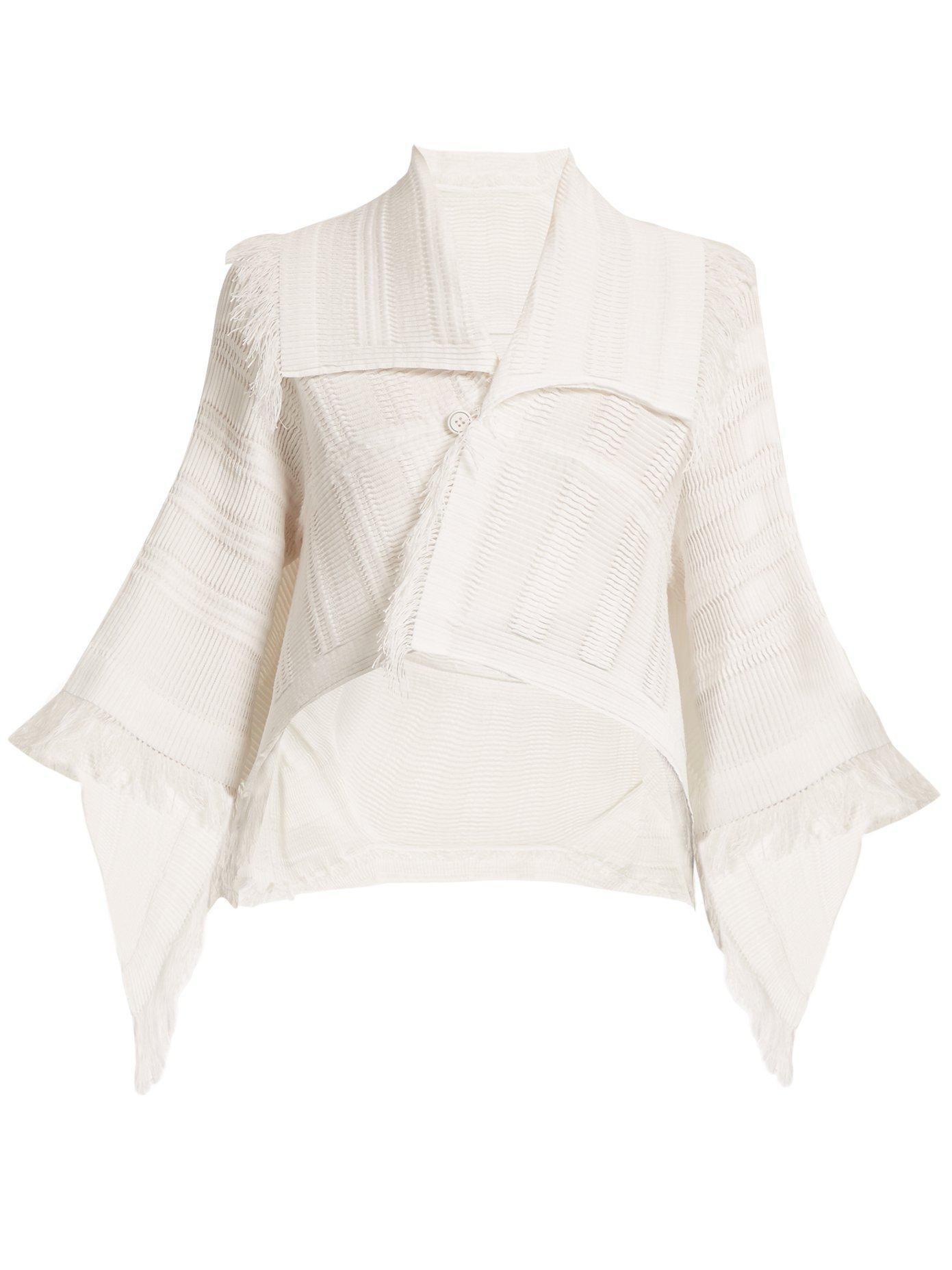 Choice Footlocker Sale Online Fringed pleated cropped jacket Issey Miyake Cheap Supply Fake Cheap Brand New Unisex MVRF7vZV8