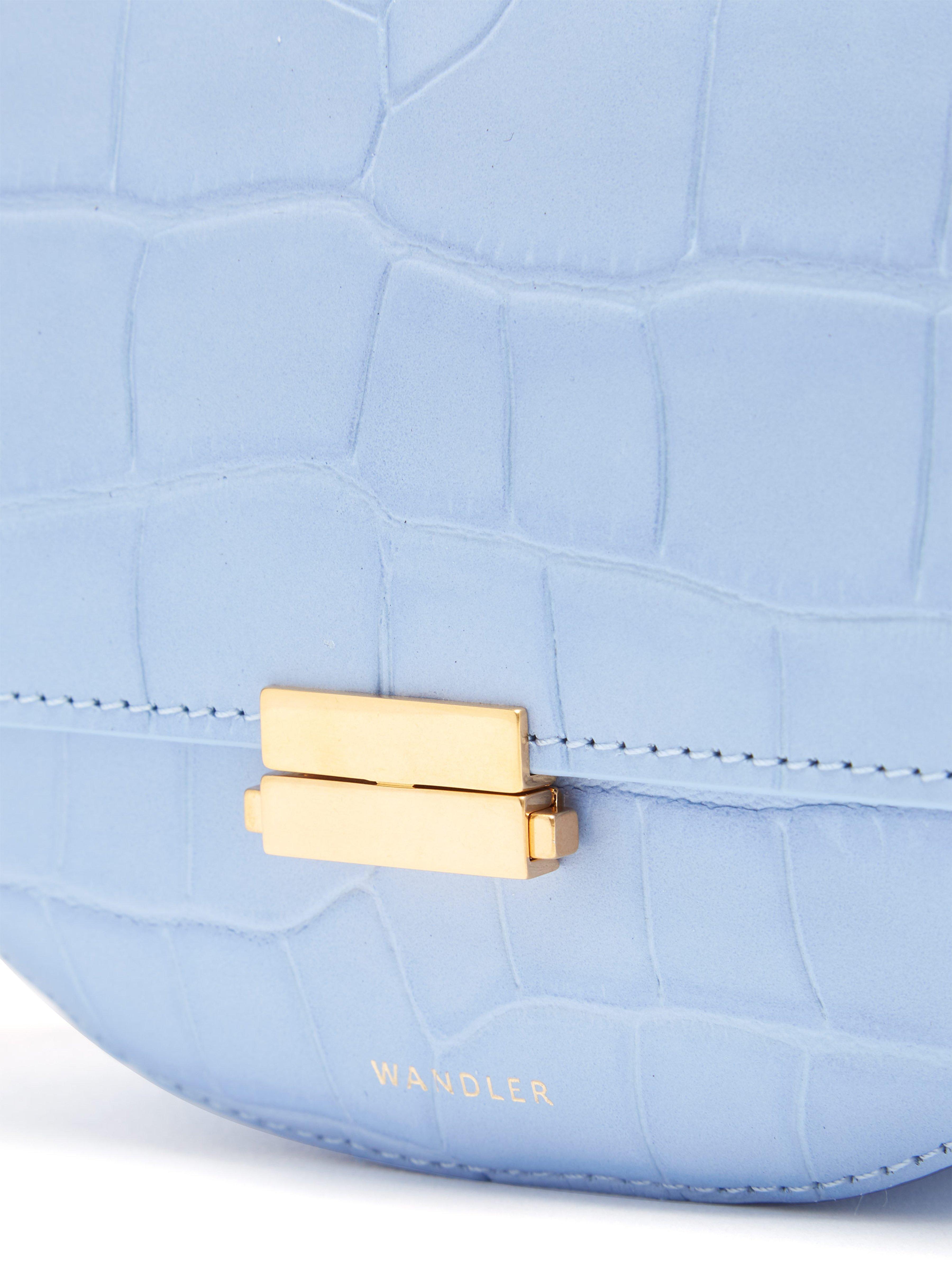 168f21300350 ... Anna Crocodile Effect Leather Belt Bag - Lyst. View fullscreen