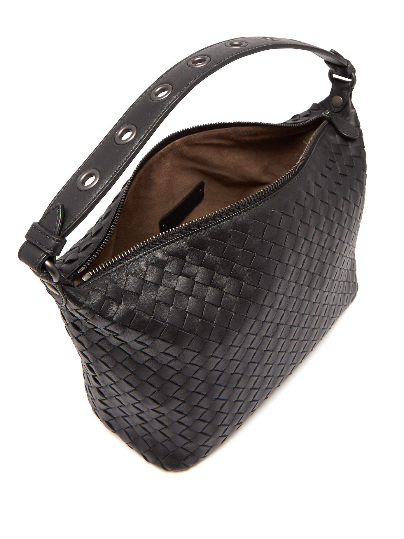 Bottega Veneta - Black Ciambrino Intrecciato Leather Shoulder Bag - Lyst.  View fullscreen 15f659049ffe8