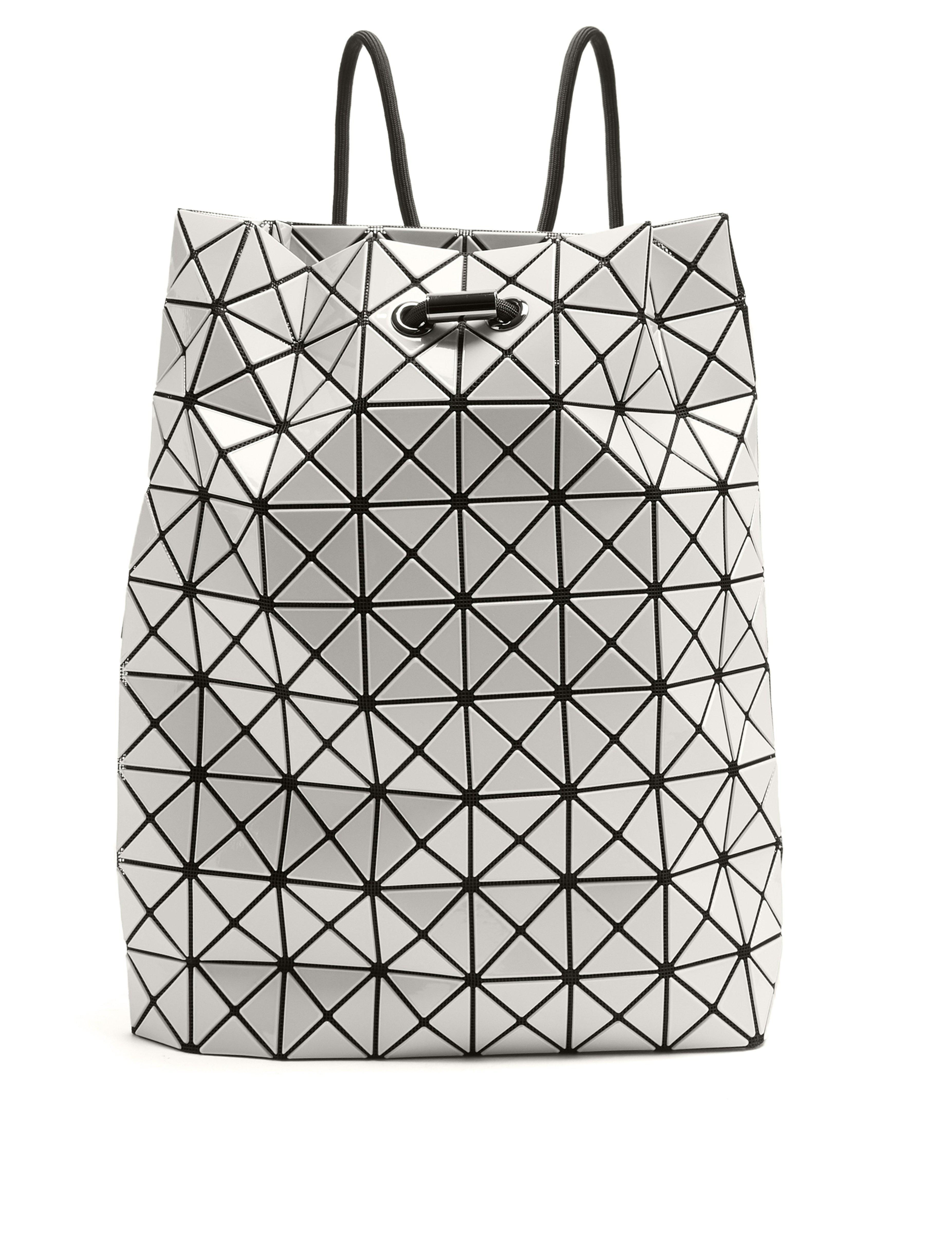 Bao Bao Issey Miyake Wring Drawstring-rope Backpack in White - Lyst 05e9854975c09