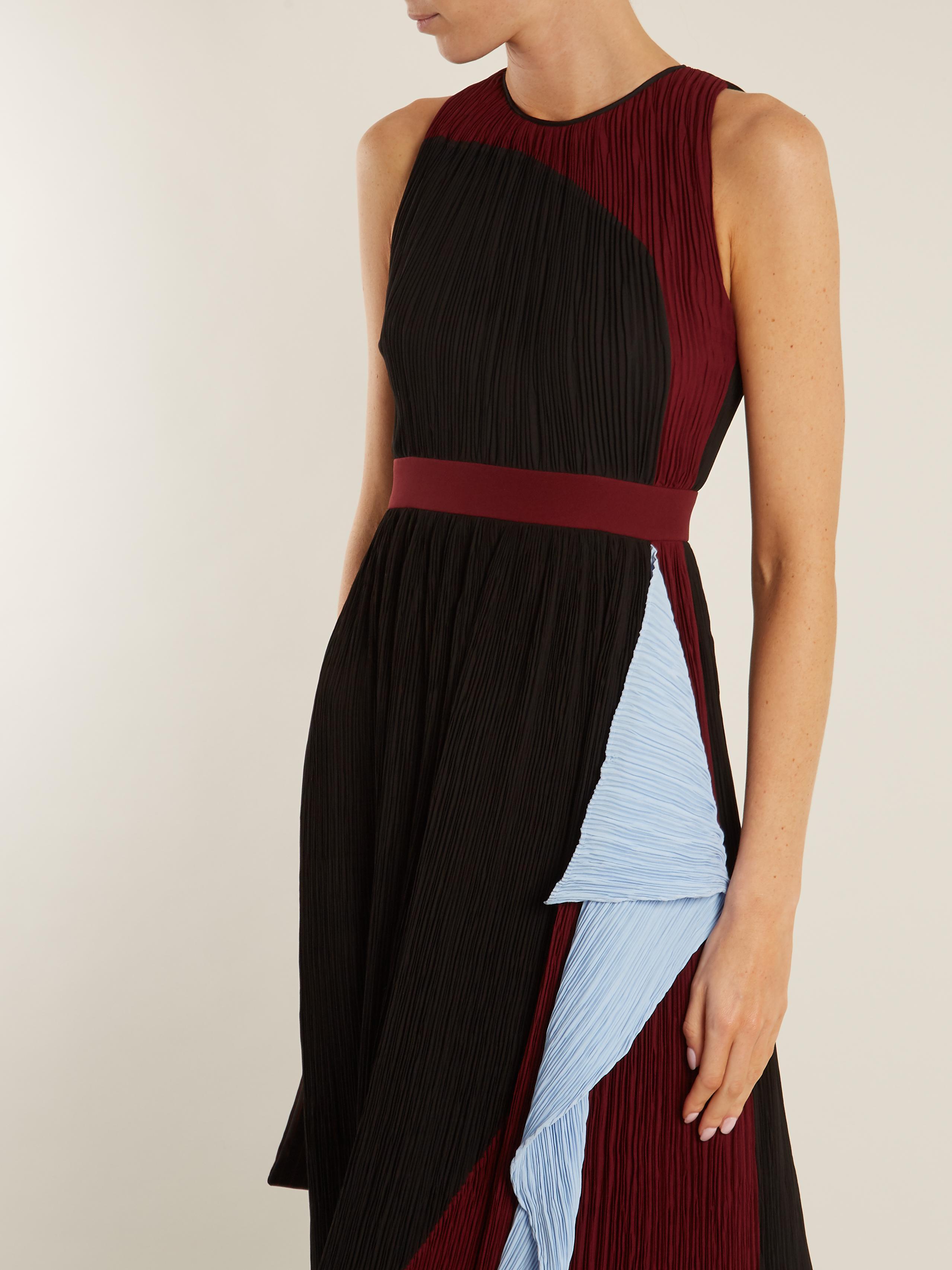 Milda sleeveless colour-block pliss VrtARGGIUF