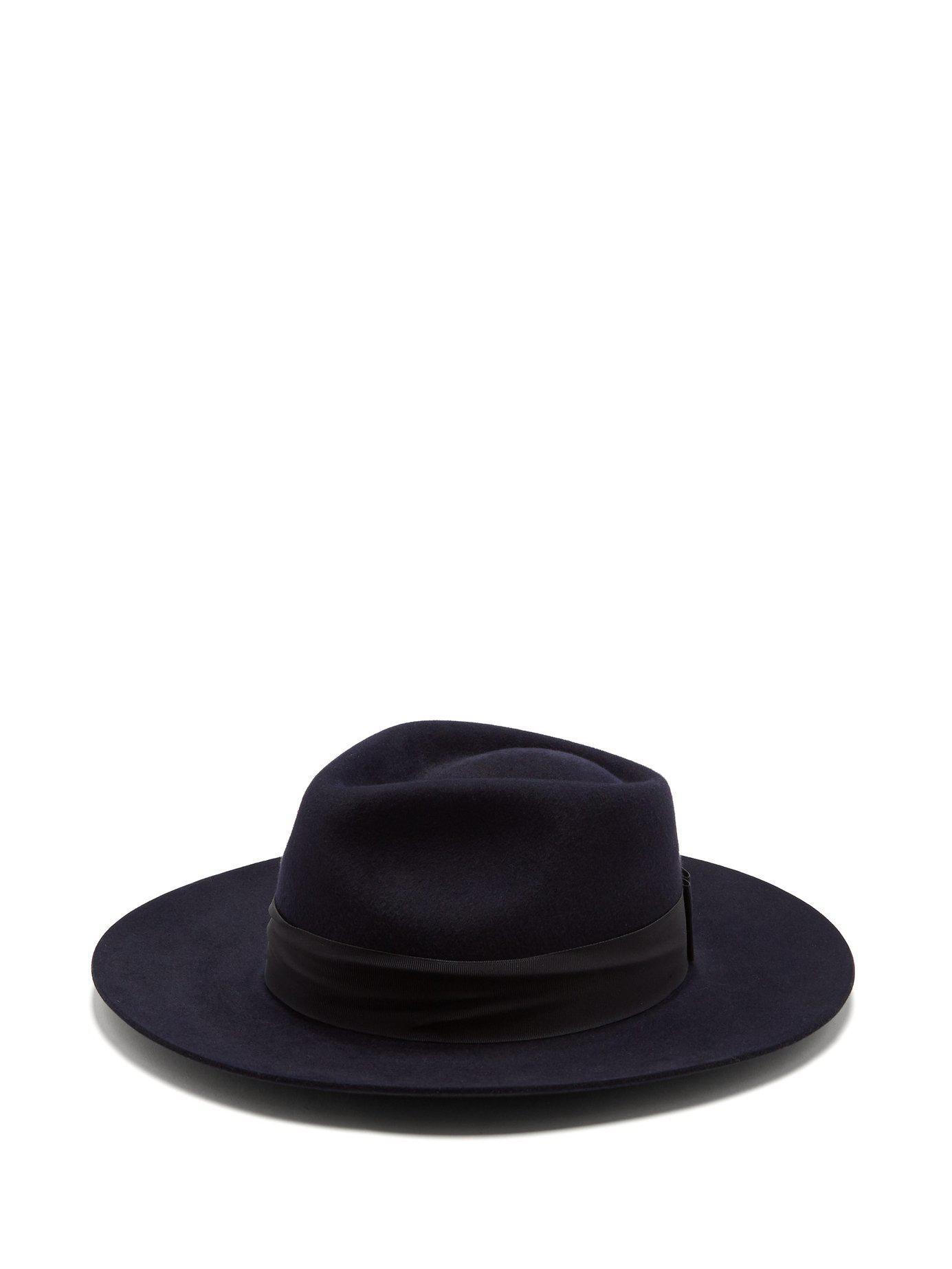 43d88f67c0b Lyst - Hillier Bartley X Lock   Co. Portobello Felt Fedora Hat in Blue