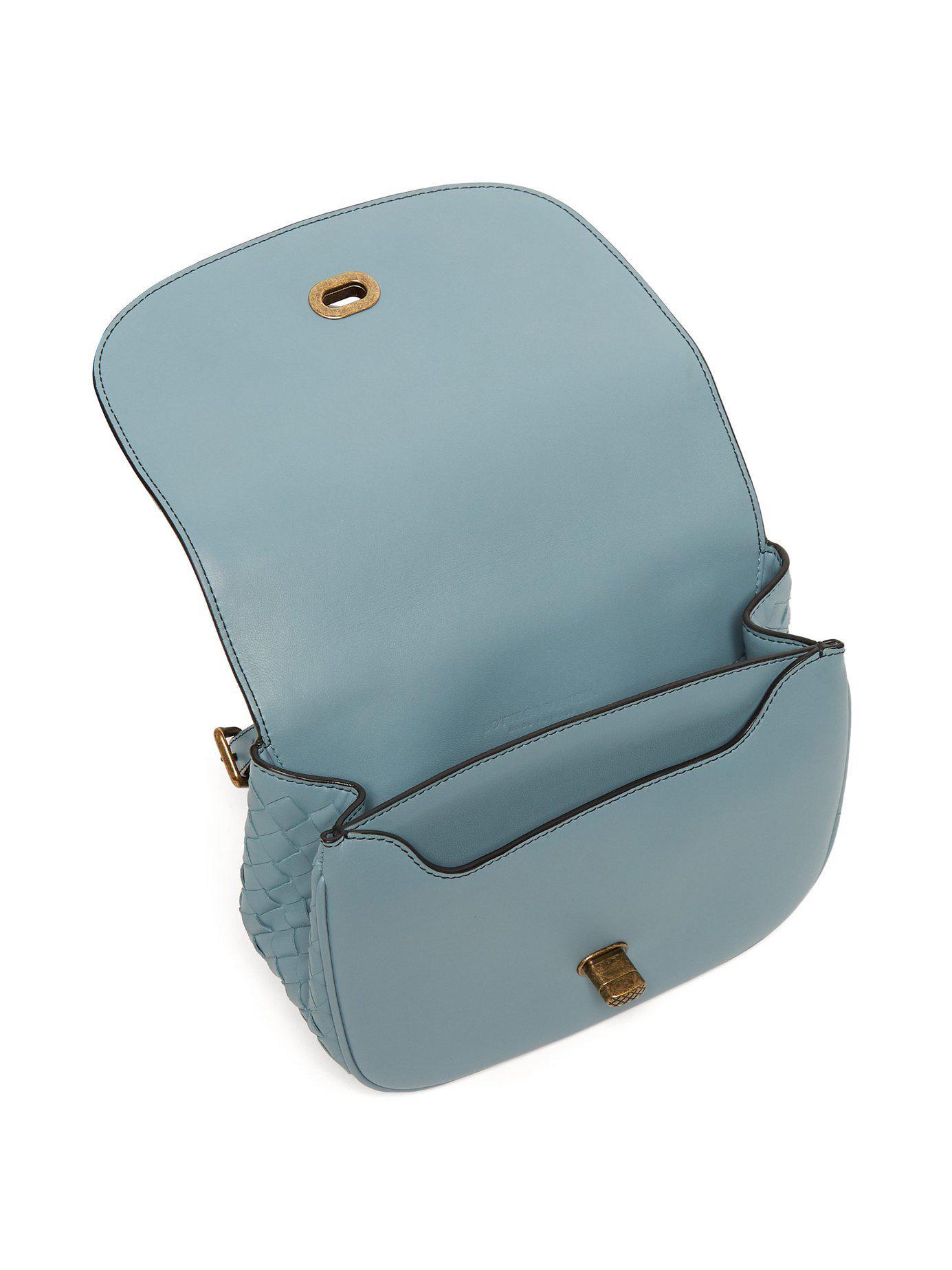 0b3c36859a10 Bottega Veneta - Blue Bv Luna Leather Cross Body Bag - Lyst. View fullscreen