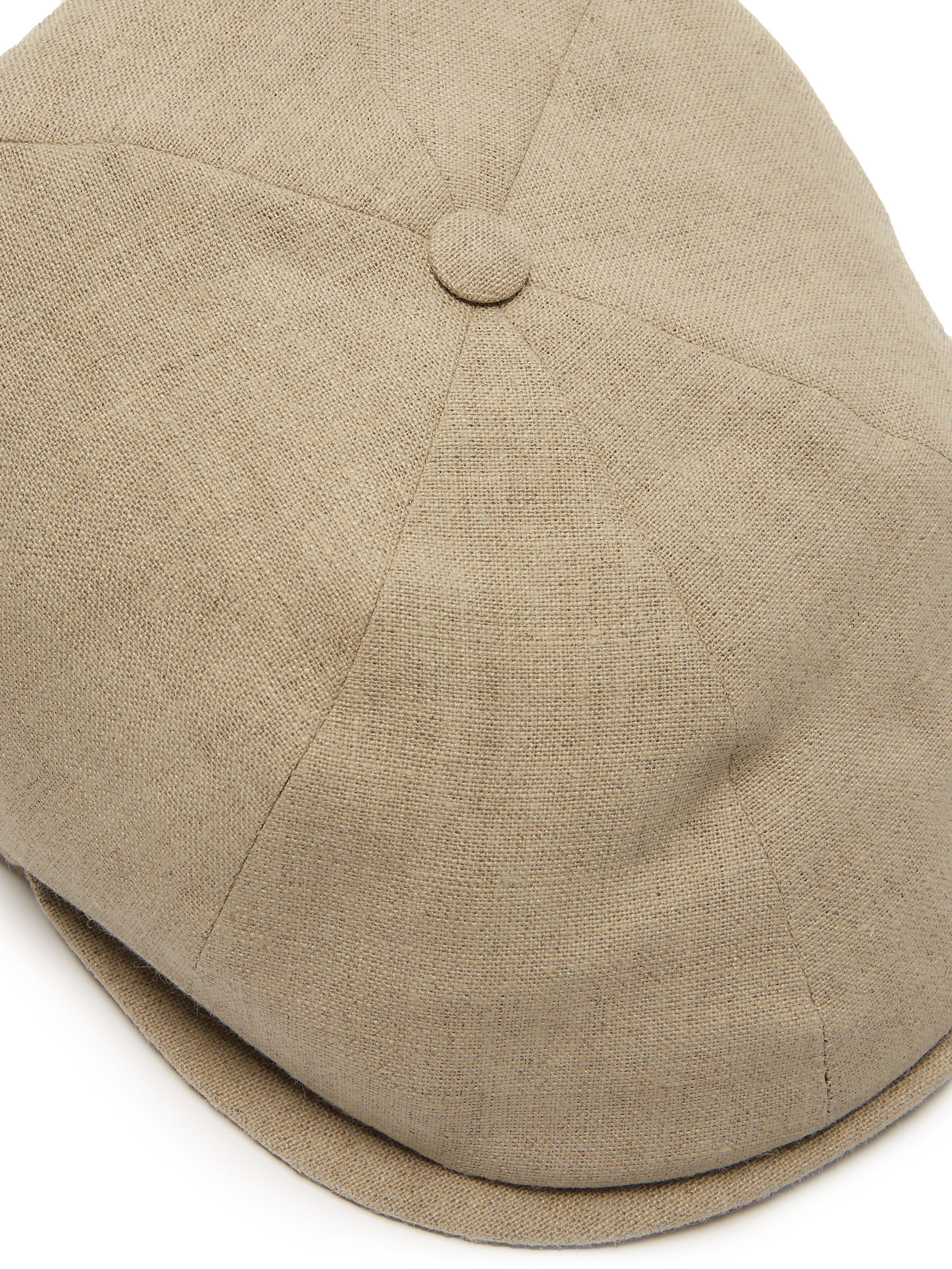3c81923661c Lock   Co - Natural Reverb Linen Canvas Flat Cap for Men - Lyst. View  fullscreen
