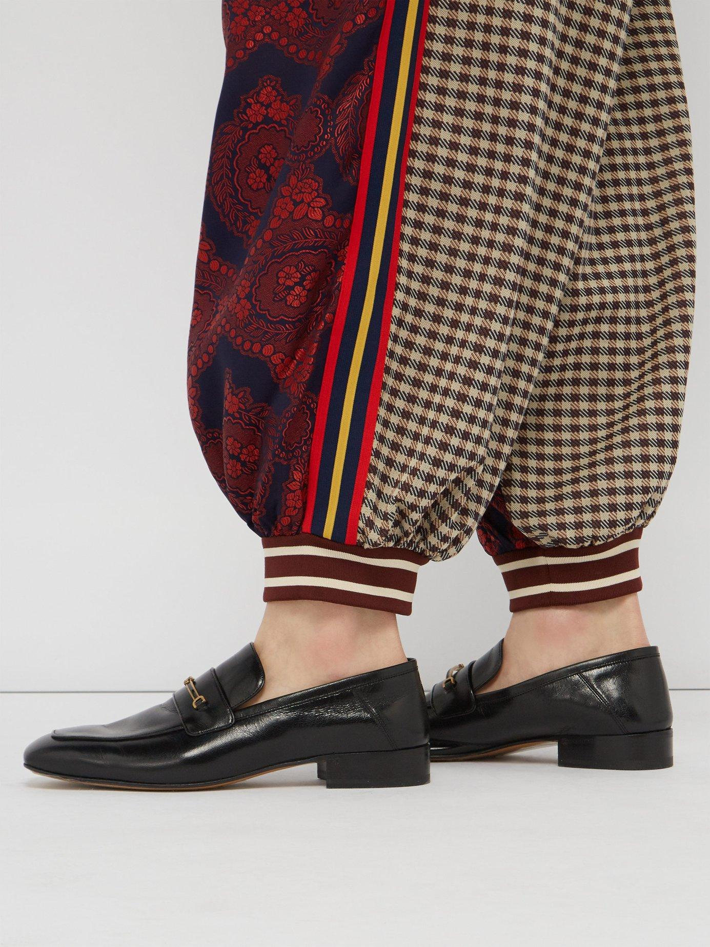 f459f4087 Lyst - Gucci Quentin Gg Horsebit Leather Loafers in Black for Men