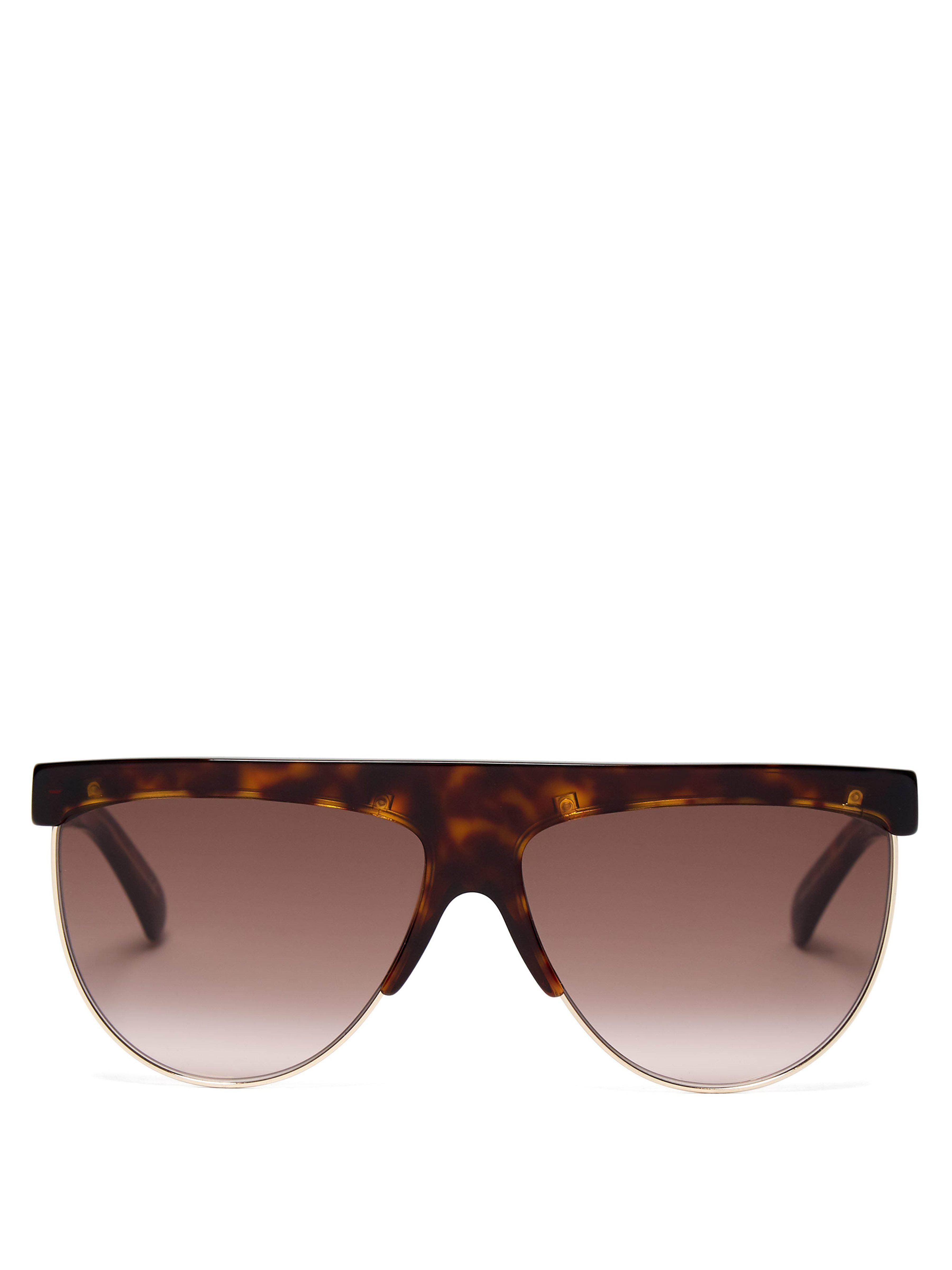 2b11e38828 Givenchy Flat Top Tortoiseshell Sunglasses in Brown - Lyst