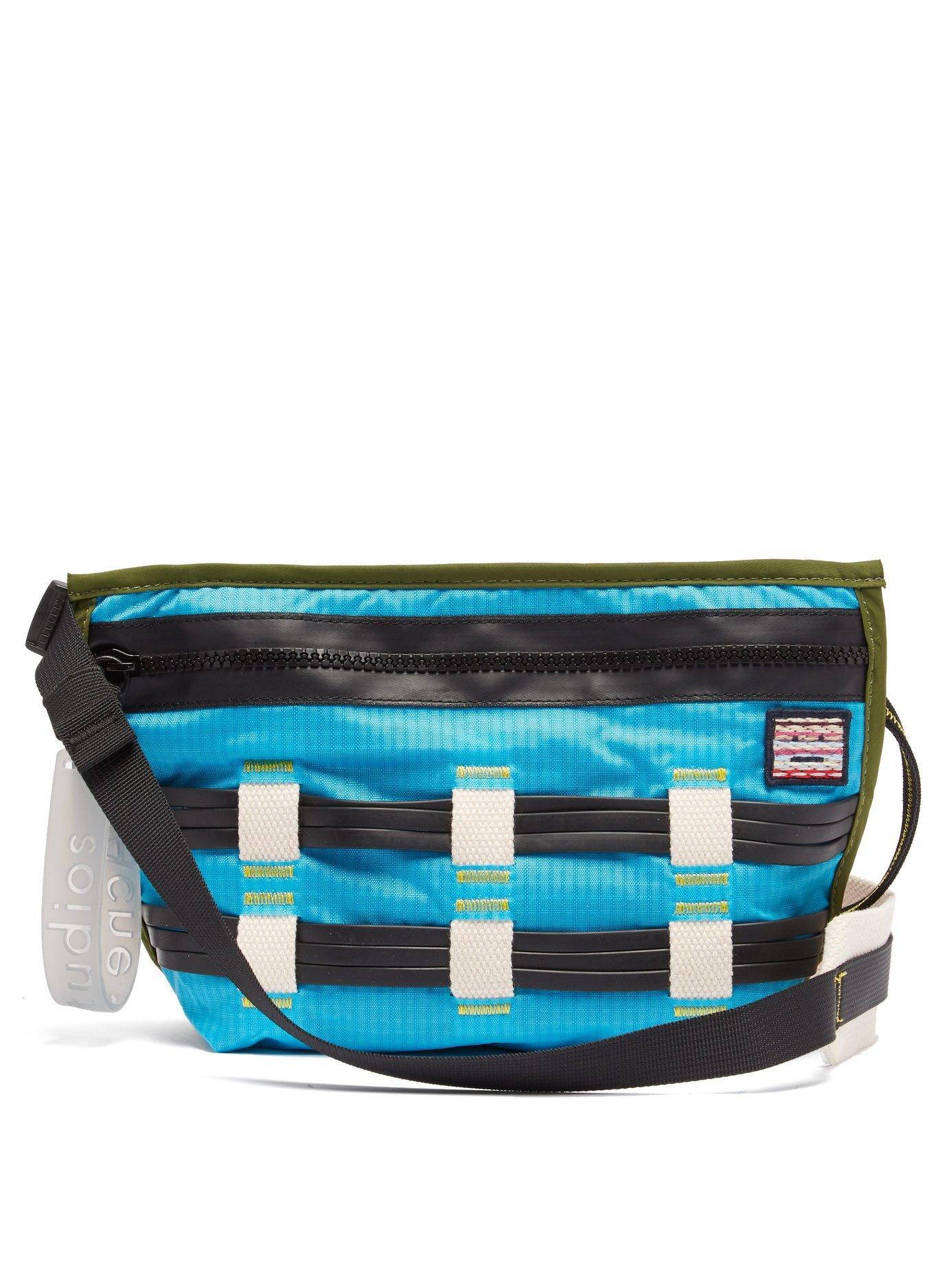Lyst - Acne Studios Rubber Weave Cross Body Bag in Blue for Men e86952e407d73