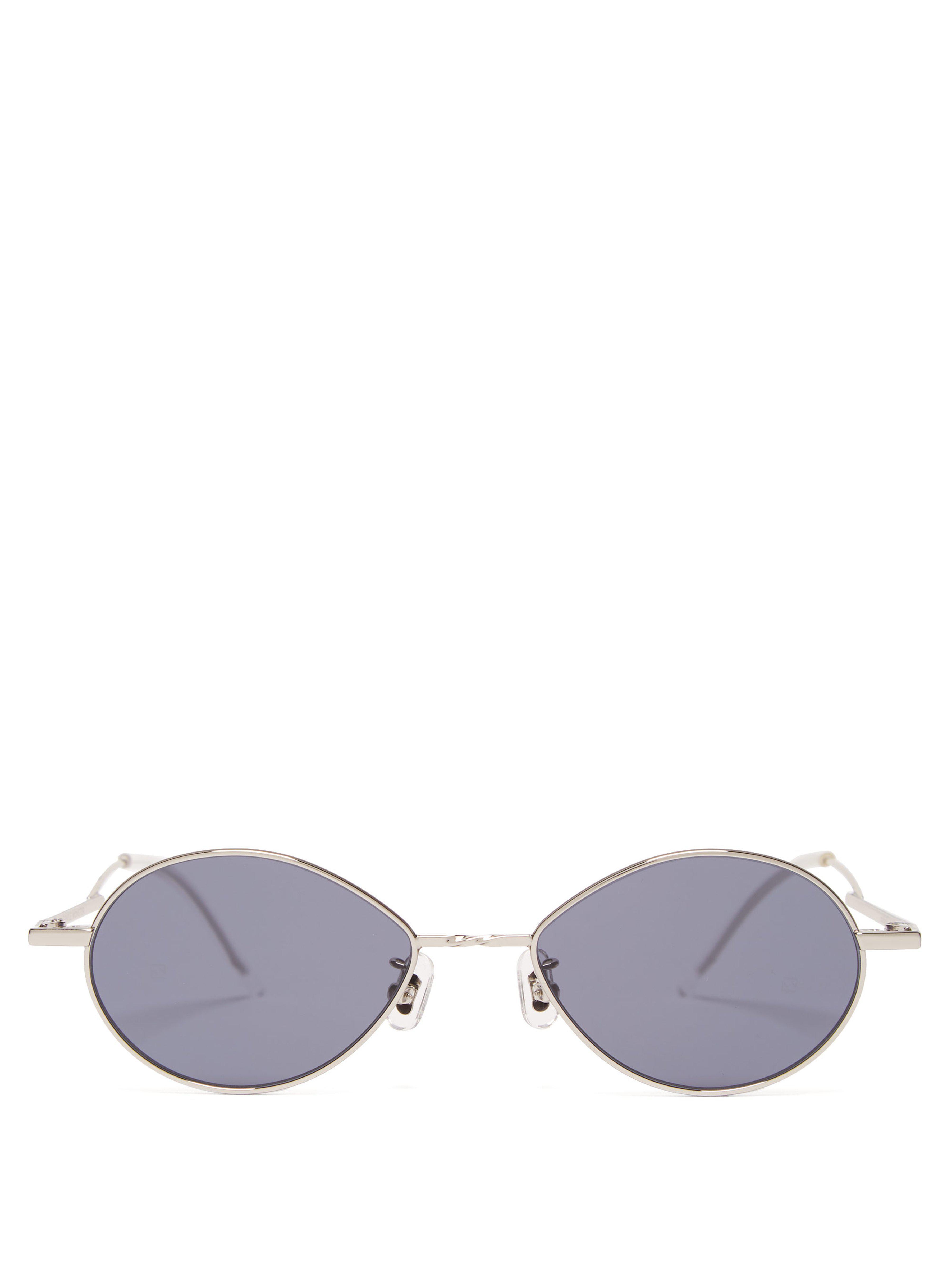 5bd894df01df Gentle Monster Cobalt Stainless Steel Sunglasses in Metallic for Men ...