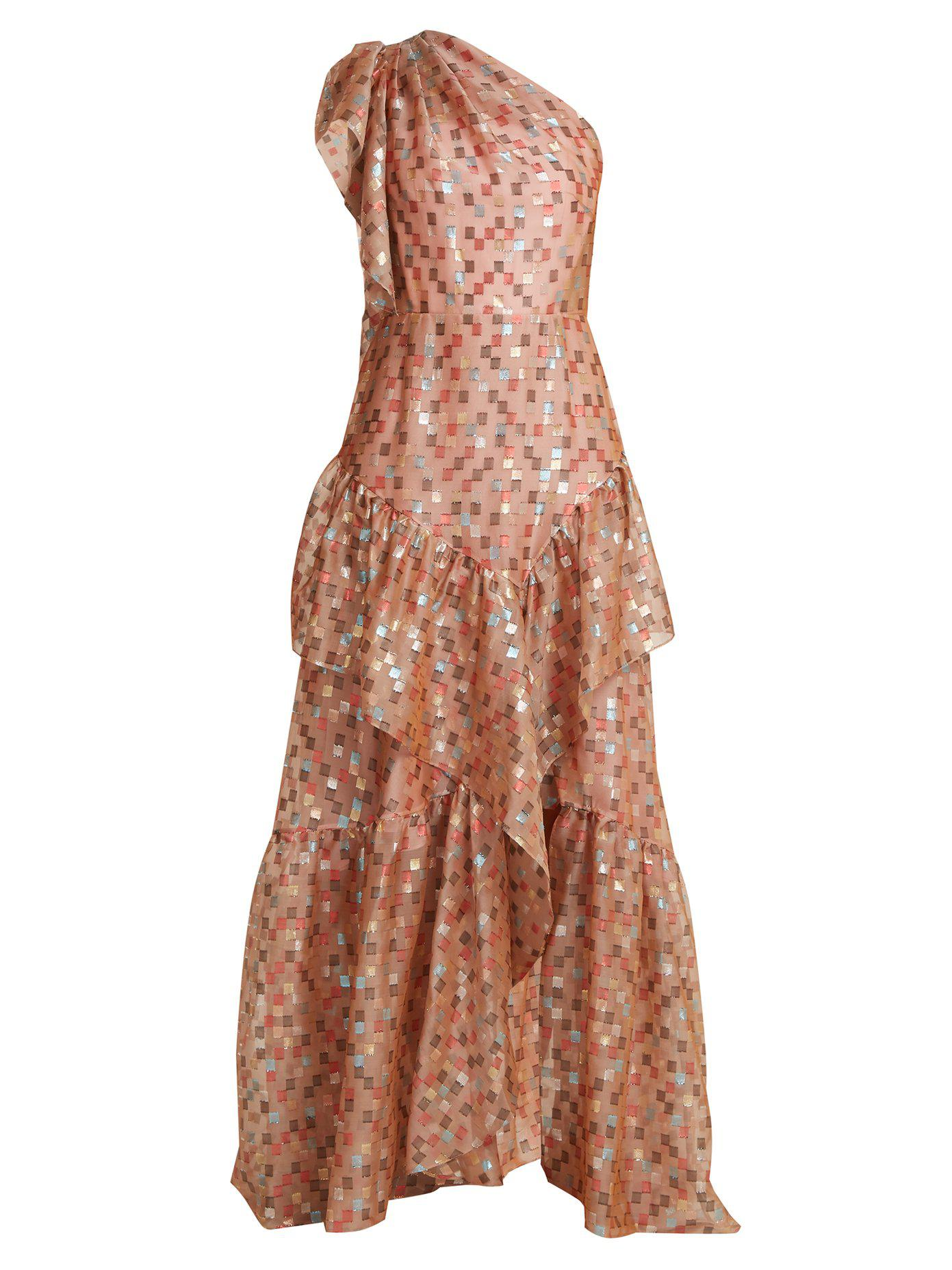 For Nice Online Sale Low Shipping Fil coupé jacquard one-shoulder gown Peter Pilotto wUSwK6TNn