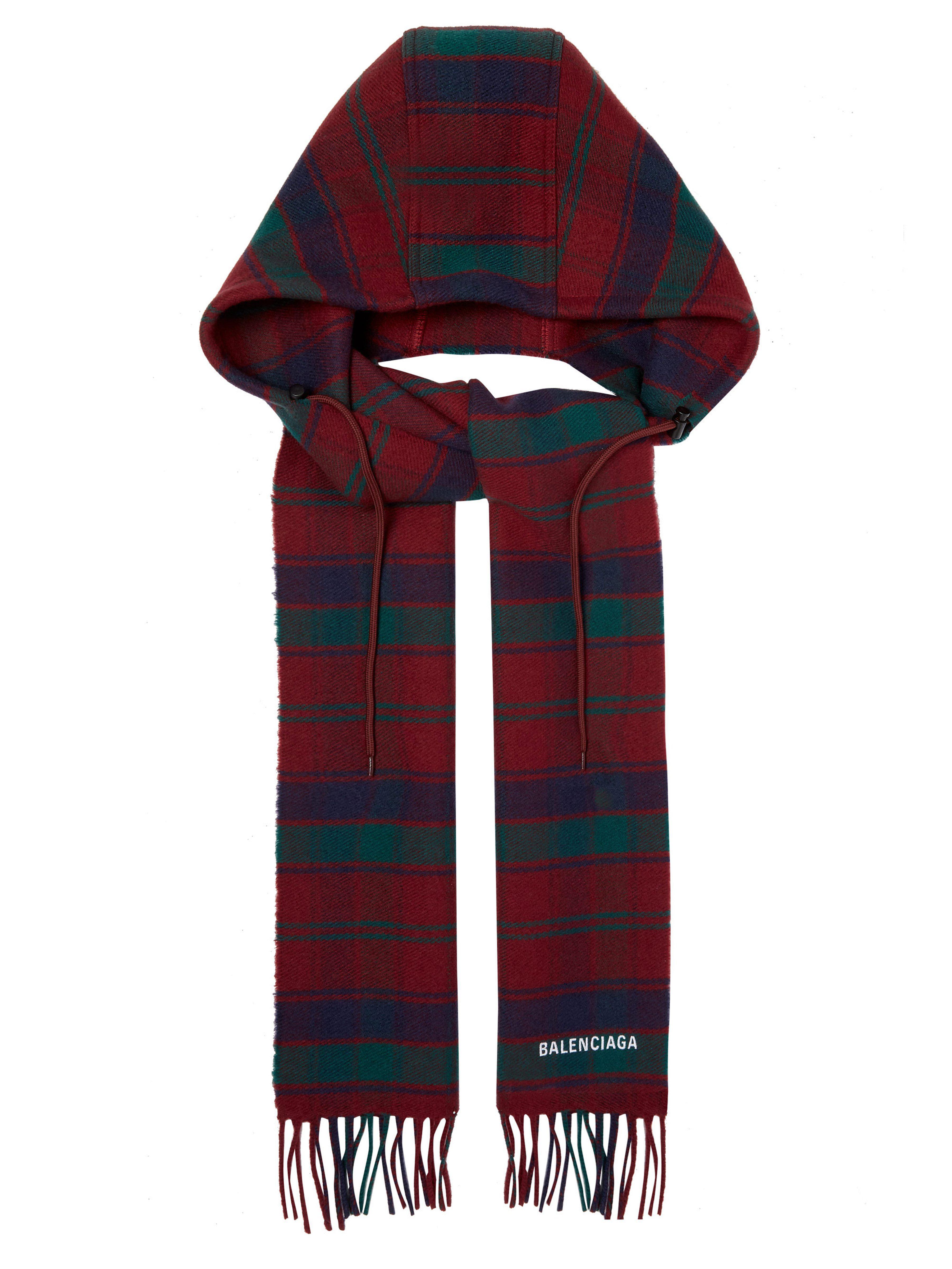 f75377ab41c Lyst - Écharpe en laine à capuche Balenciaga en coloris Rouge