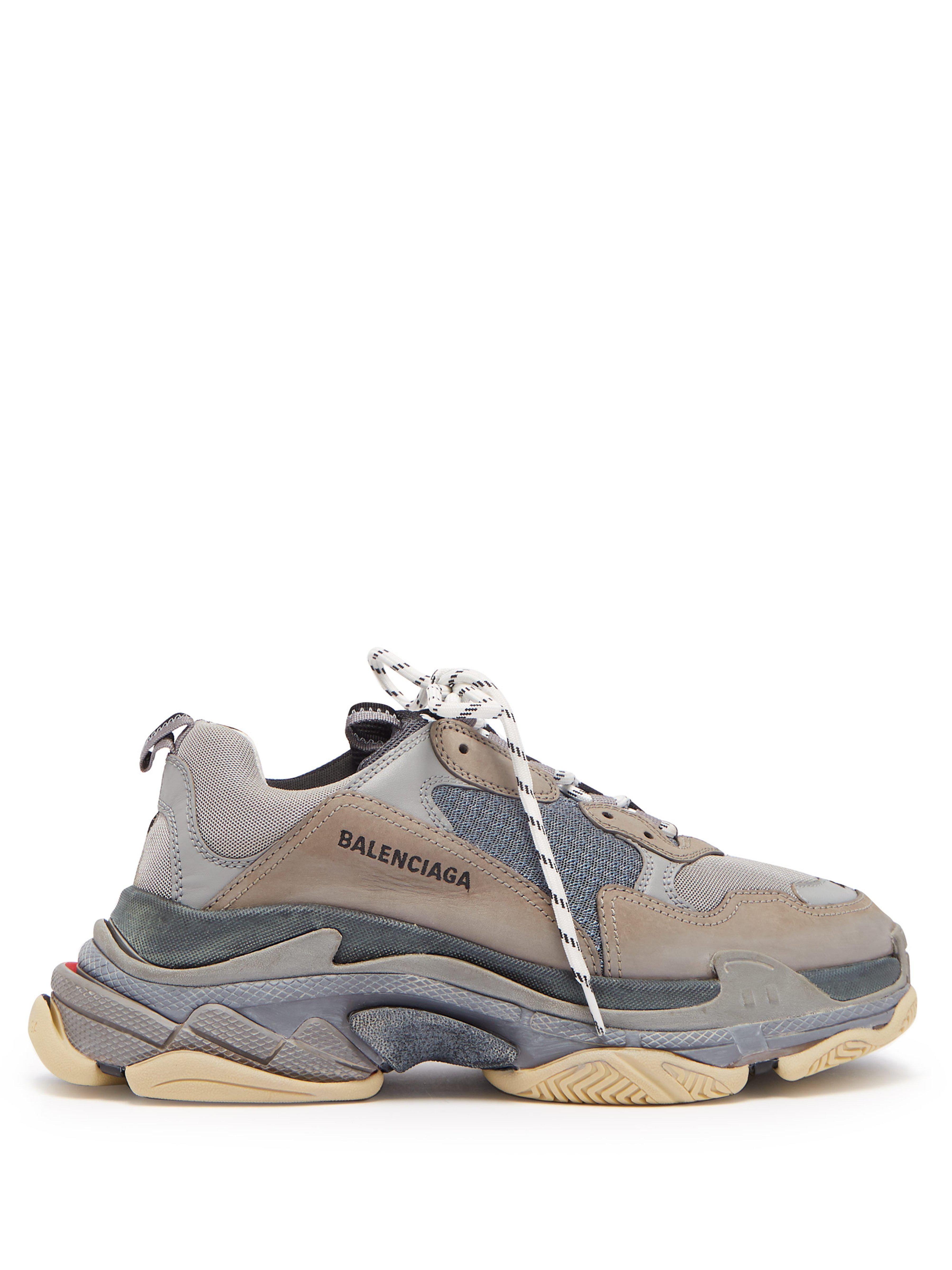 aadd2ba4283f90 Balenciaga - Gray Men s Triple S Trainer Sneakers - Grey Black - Size 39 (6.  View fullscreen