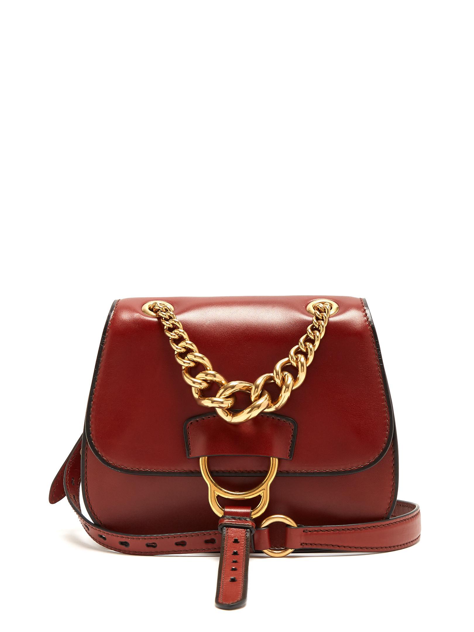 1826b9dec7ad Lyst - Miu Miu Dahlia Leather Cross-body Bag