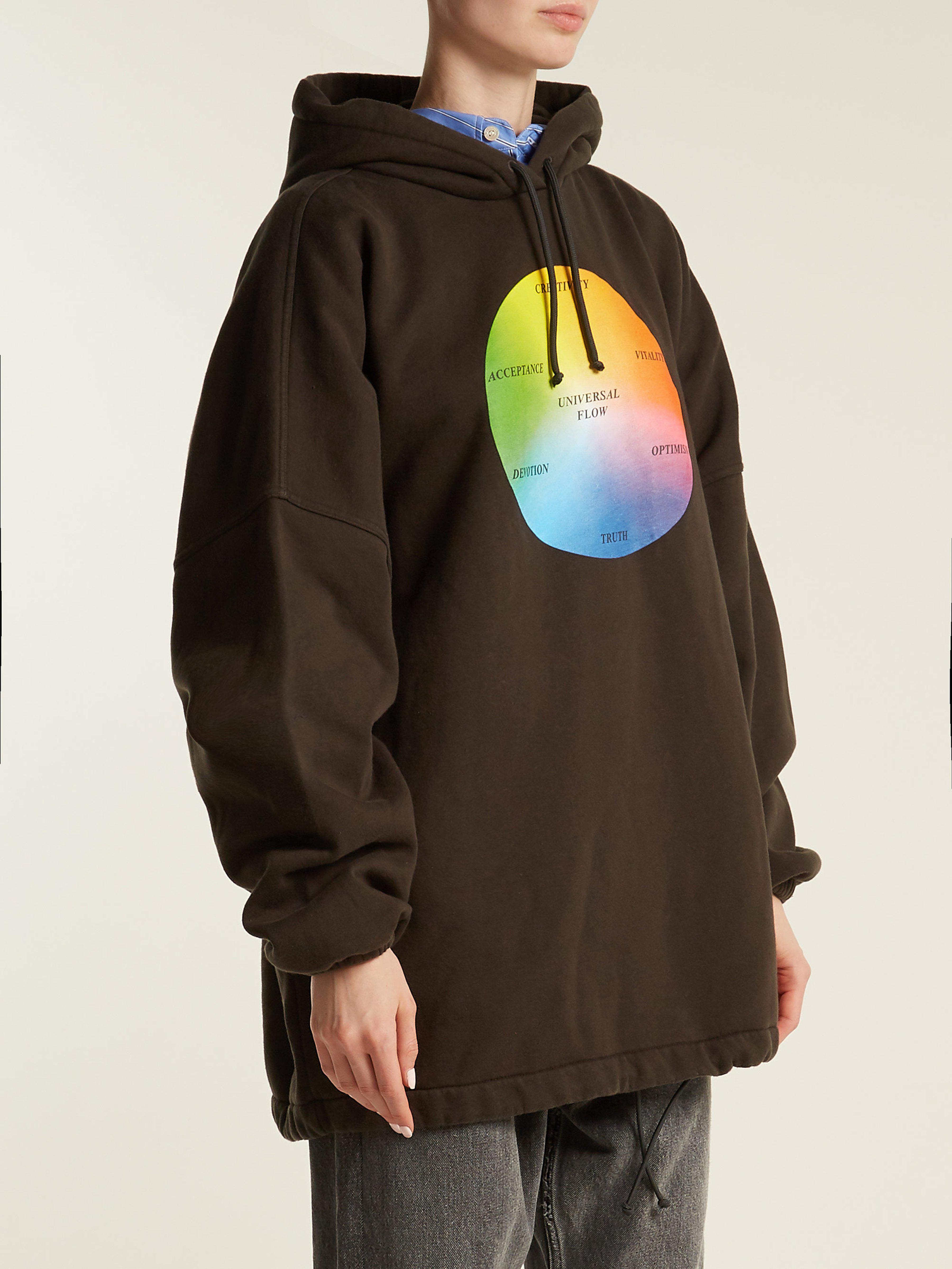 9eb6ce5ac Balenciaga Universal Flow Cotton Jersey Hooded Sweatshirt in Black - Lyst