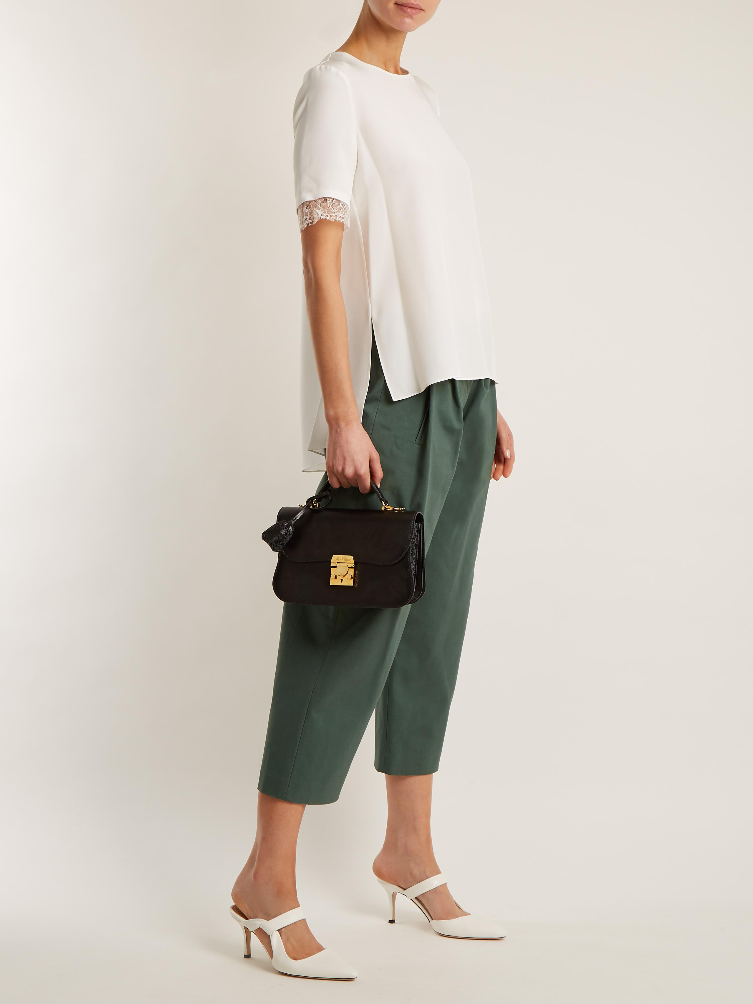 High-waisted stretch-cotton culottes Adam Lippes XPEc9H7zEg