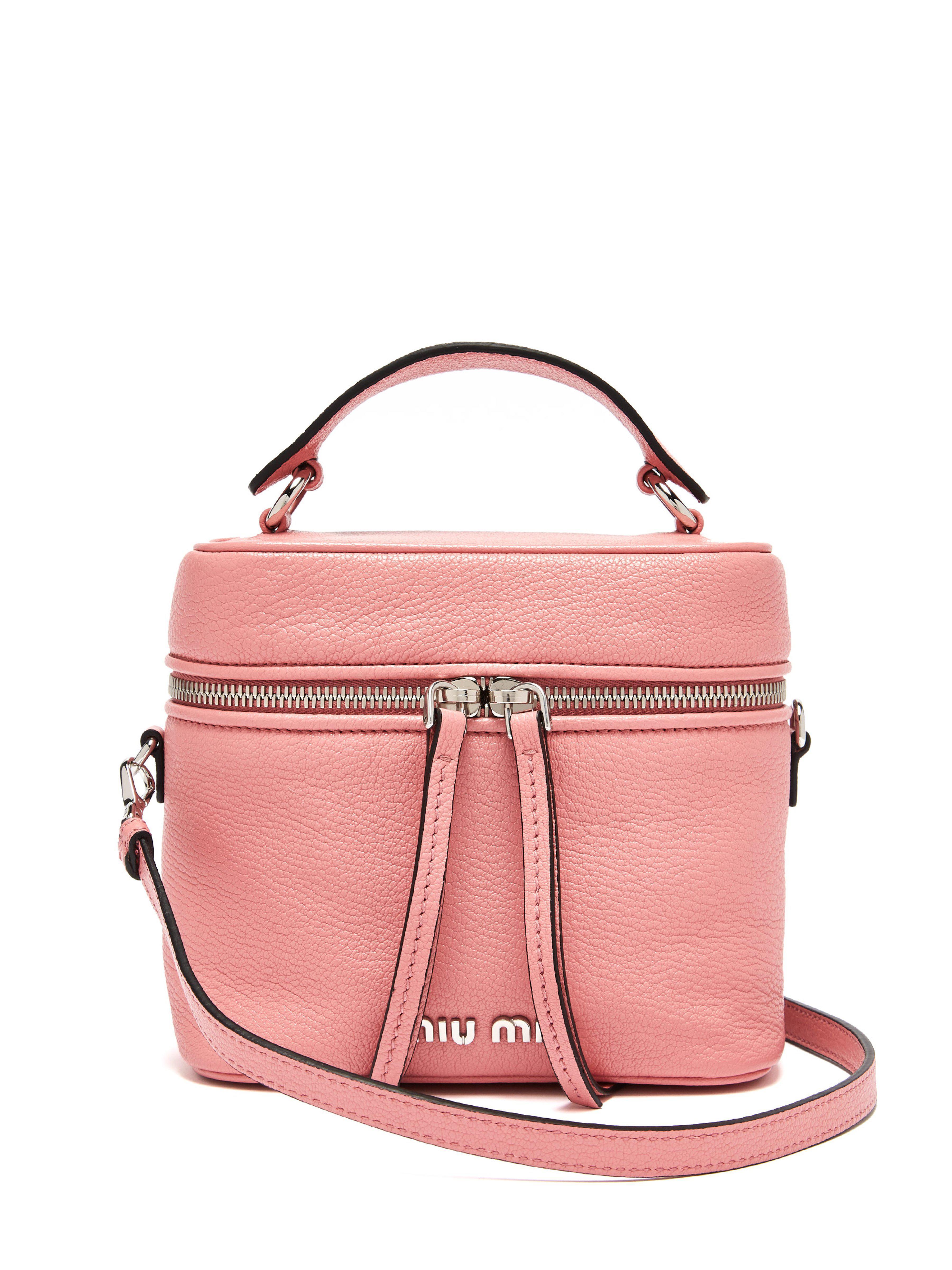 f290aa527c8b Miu Miu Leather Cross Body Beauty Case in Pink - Lyst