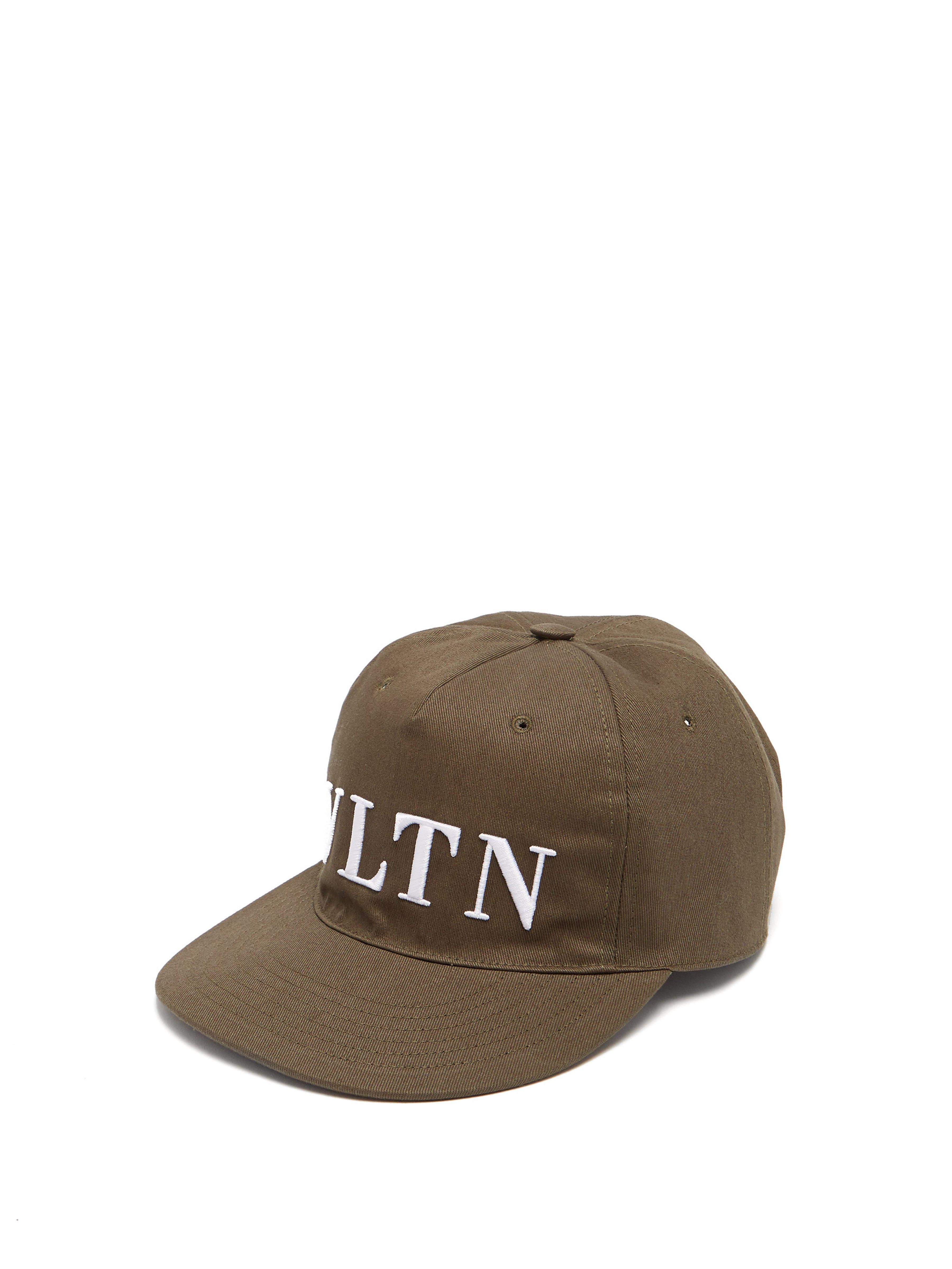 5355c4bfc1a Valentino Vltn Logo Embroidered Cotton Cap for Men - Lyst