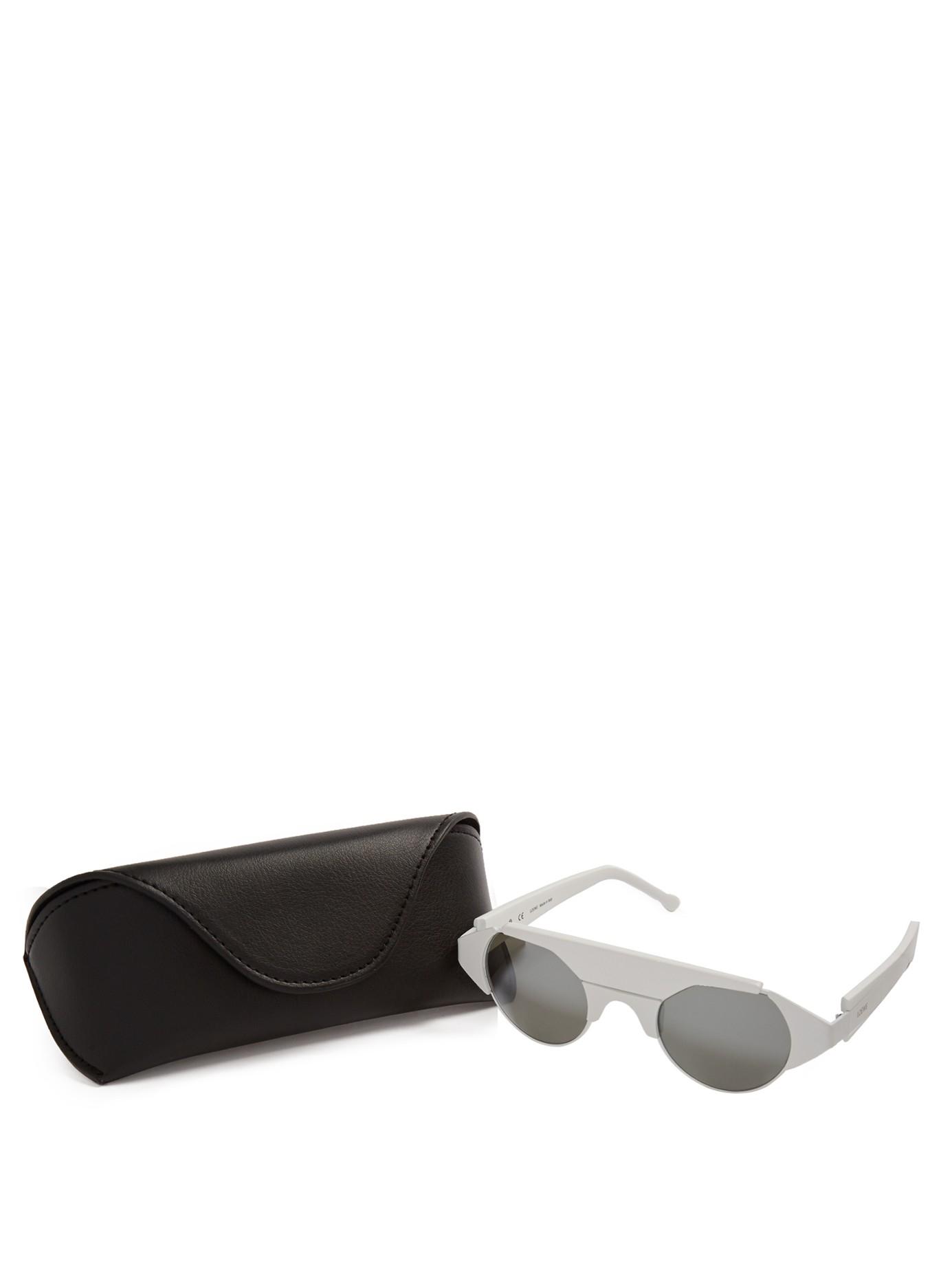 Loewe Ashley Round-frame Sunglasses in White