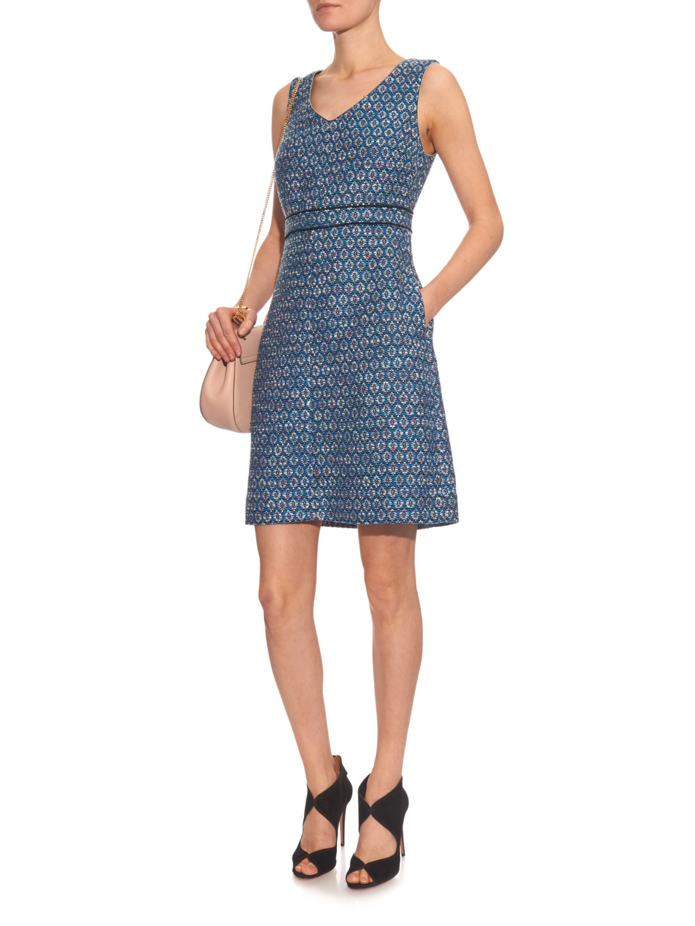 Lyst diane von furstenberg leelou long dress in blue for Diane von furstenberg clothes